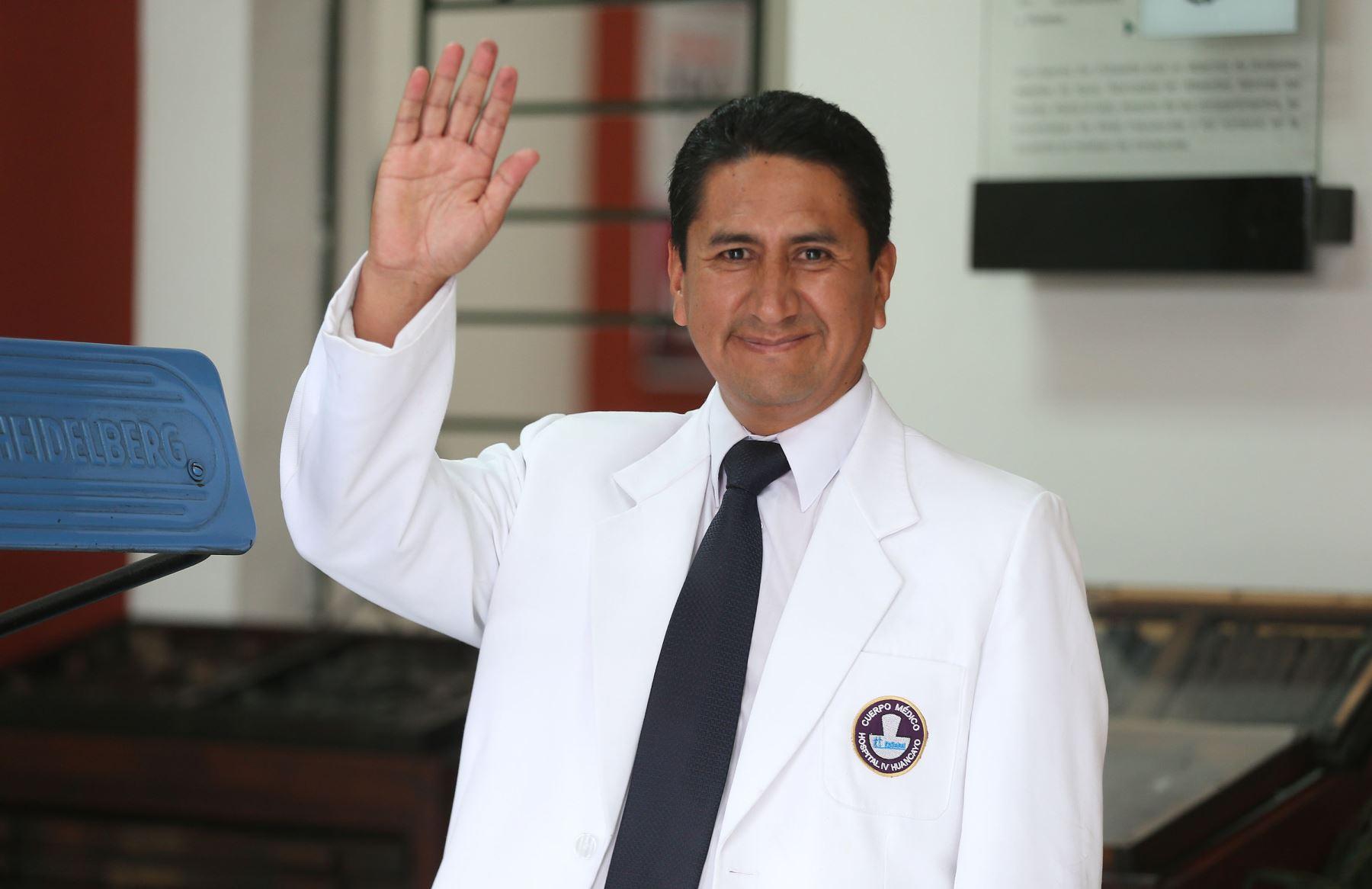 """Con el 37.4% de los votos, el candidato Vladimir Cerrón (Perú Libre) es el virtual gobernador regional de Junín, según la encuesta """"a boca de urna"""" realizada por la empresa encuestadora Ipsos. ANDINA/Vidal Tarqui"""