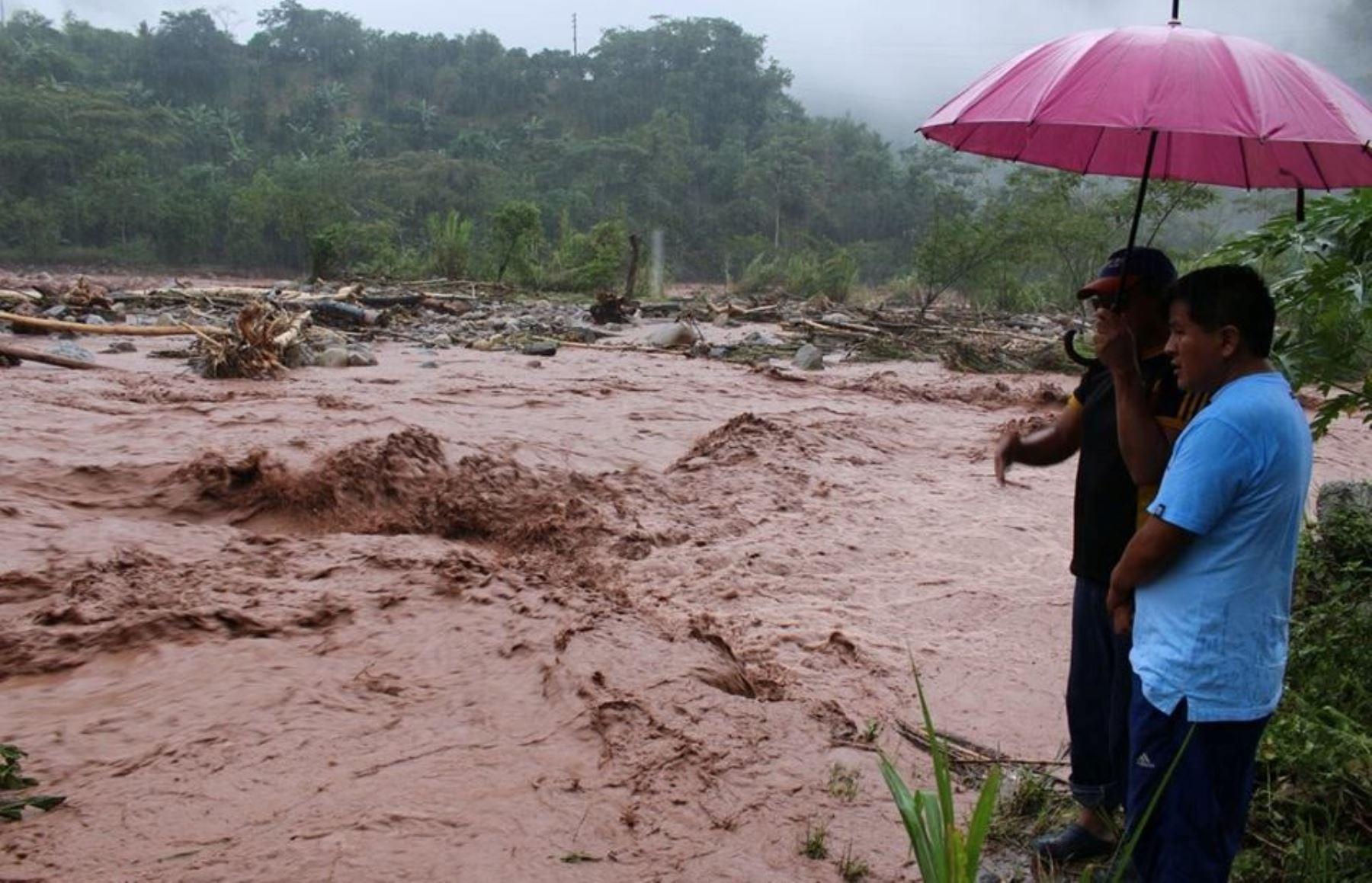 83 provincias soportan lluvias intensas desde esta tarde. ANDINA