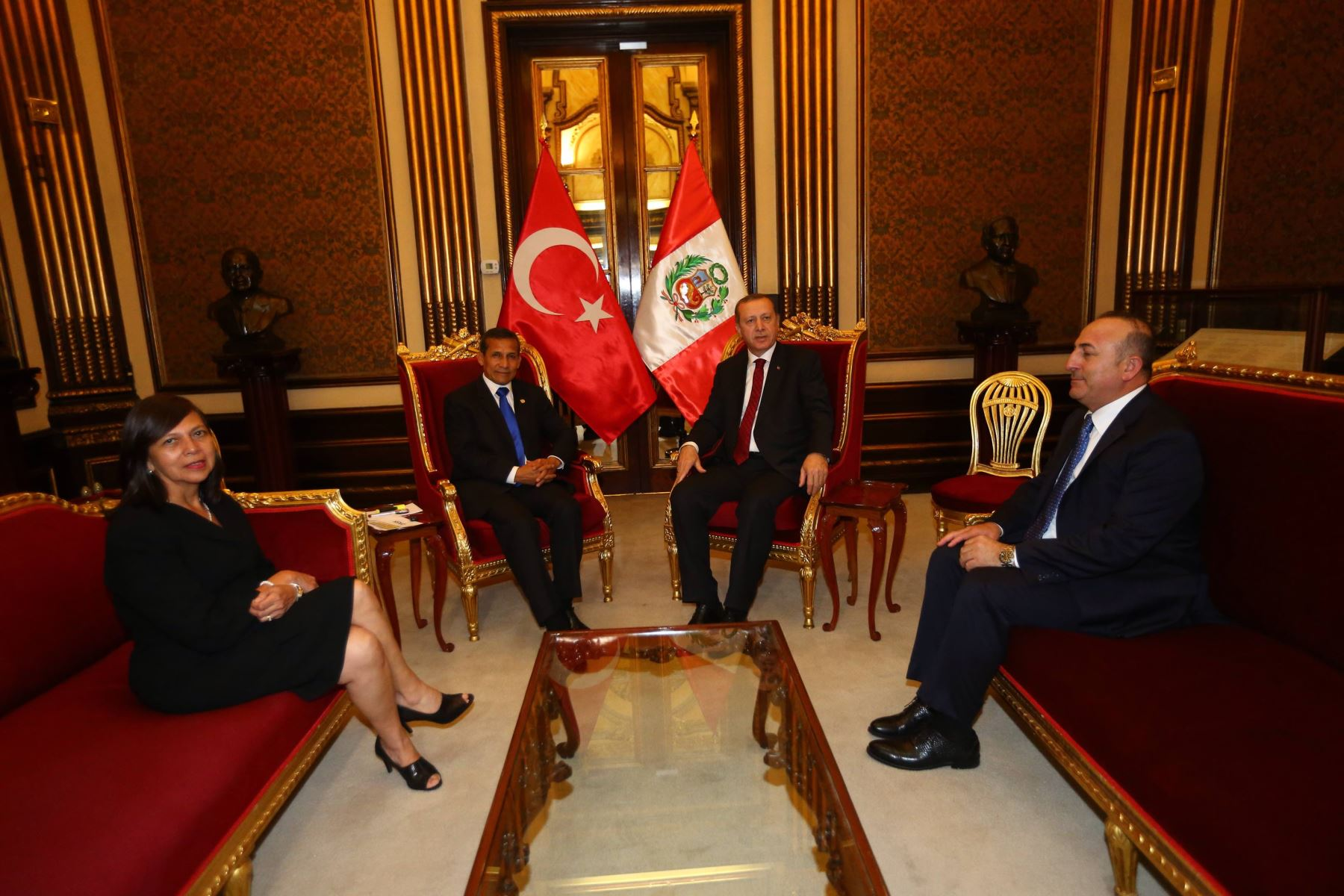 Presidente de Turquía, Recep Tayyip Erdogan, se reunión con el presidente Humala en Palacio de Gobierno.