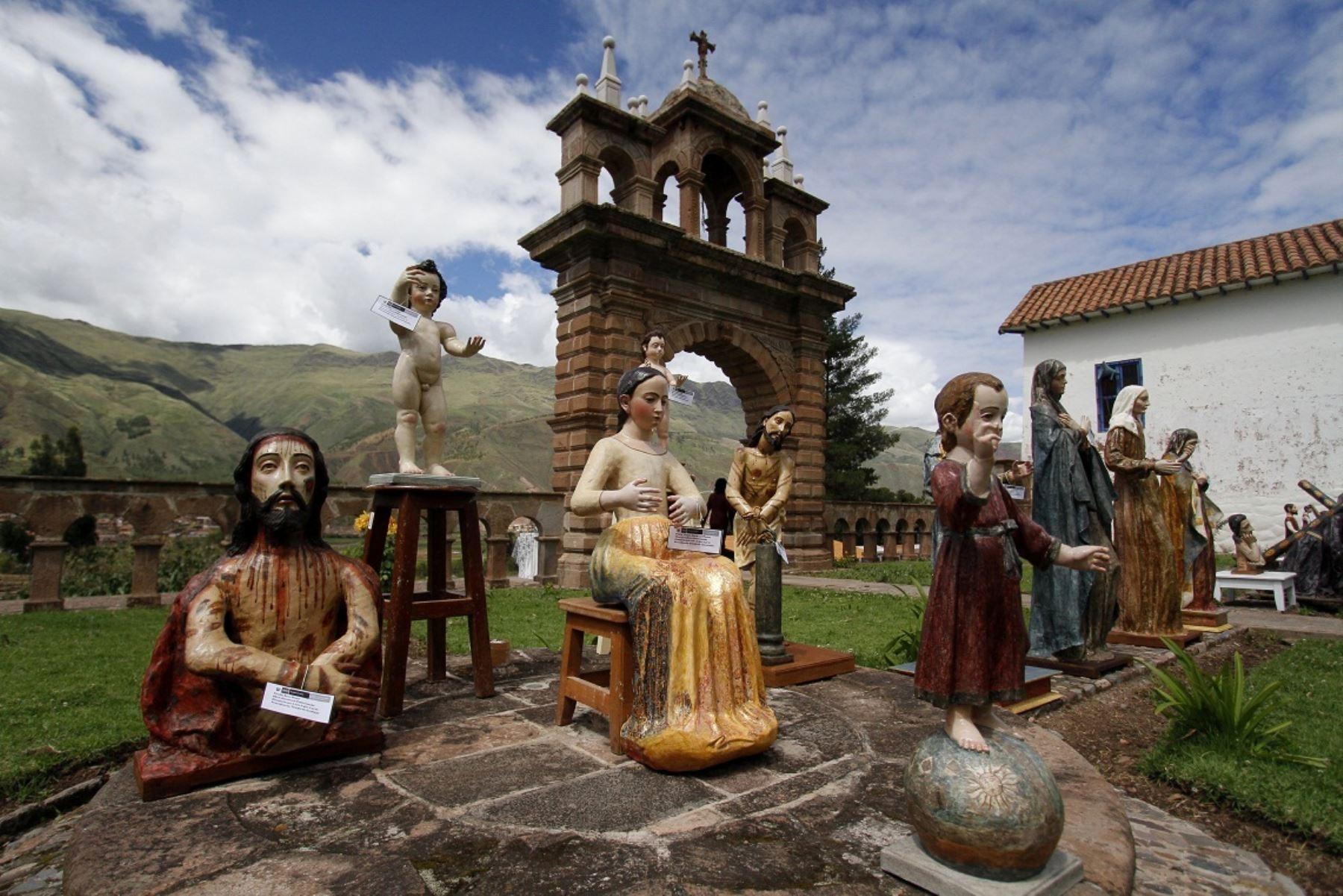 Se restauraron esculturas, pinturas y ceramios inca en centro de restauración de Tipón, en Cusco. ANDINA/Percy Hurtado