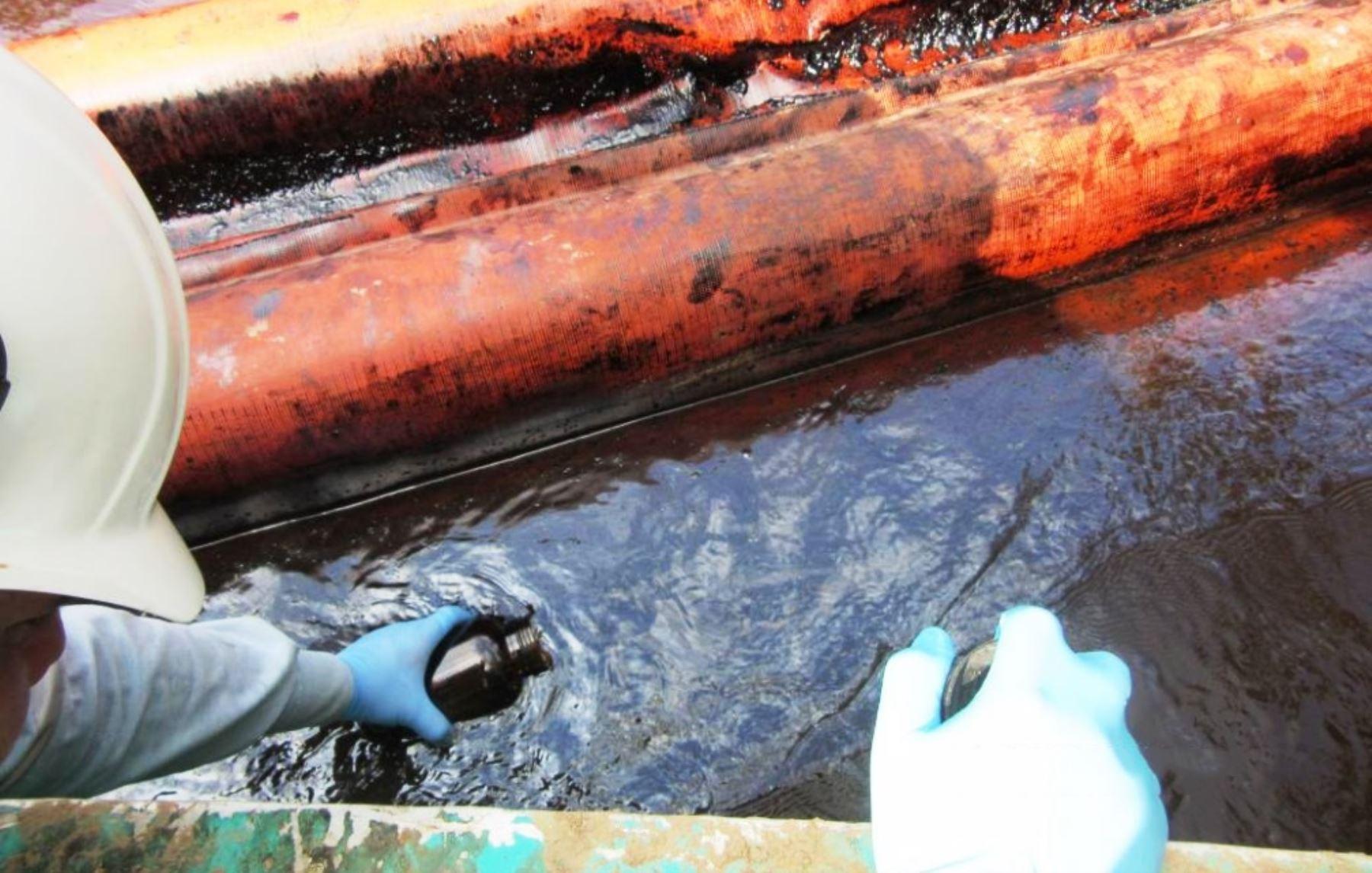 Derrame de petróleo. ANDINA/Difusión