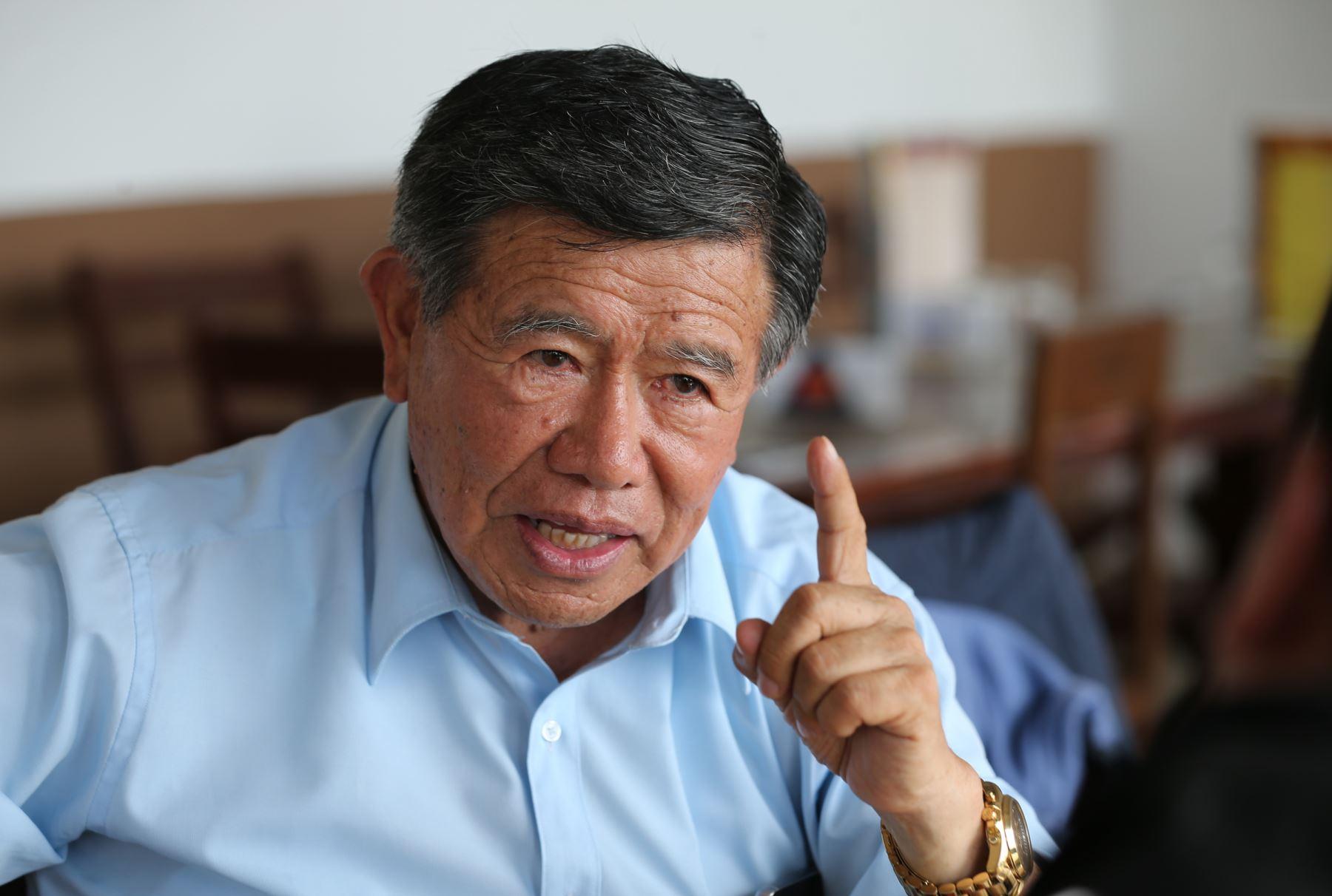 Nelson Chui Mejía, gobernador regional de Lima. ANDINA/Norman Córdova