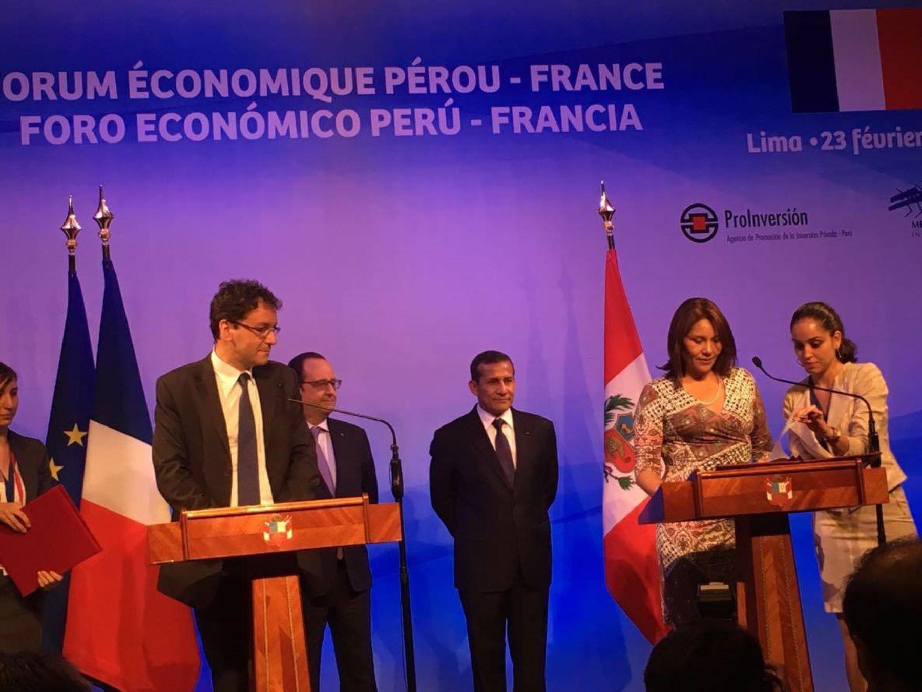 Suscripción de acuerdos entre el Midis y autoridades de Francia.