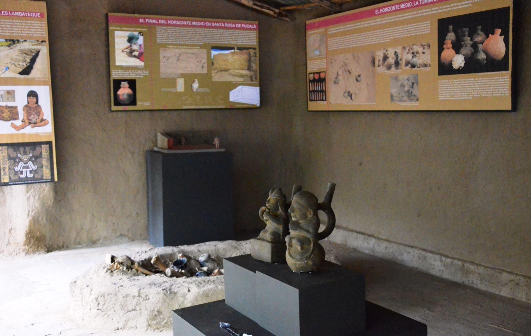 Centro de Información de Huaca Santa Rosa, ubicado en Lambayeque, es el resultado de la gestión con la comunidad de Pucalá. ANDINA