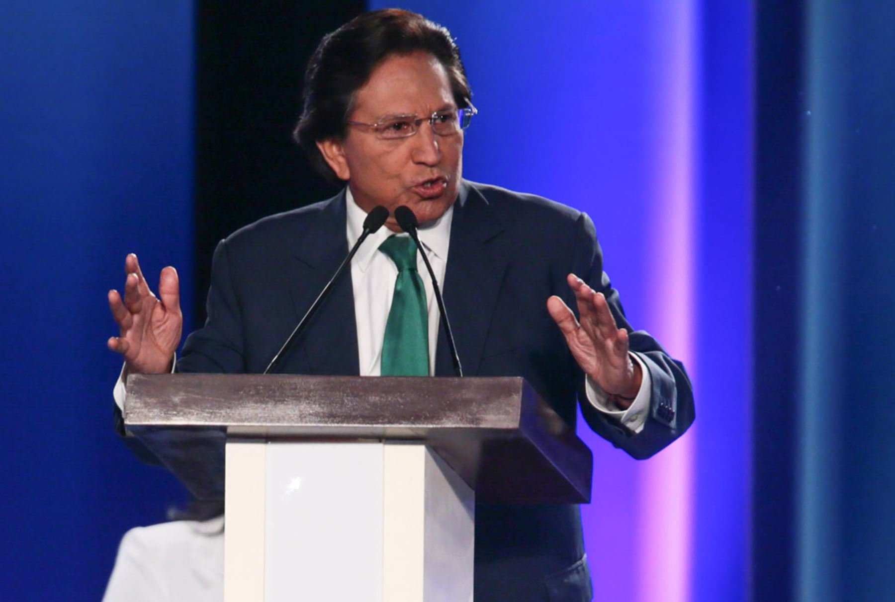 LIMA,PERÚ-ABRIL 03.Debate Presidencial 2016. Foto: Candidato Alejandro Toledo. ANDINA/ Carlos Lezama