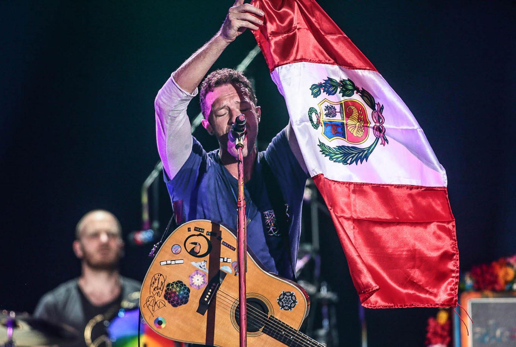 LIMA, PERÚ - ABRIL 05. Concierto de Coldplay en Lima. Foto: ANDINA/ Carlos Lezama