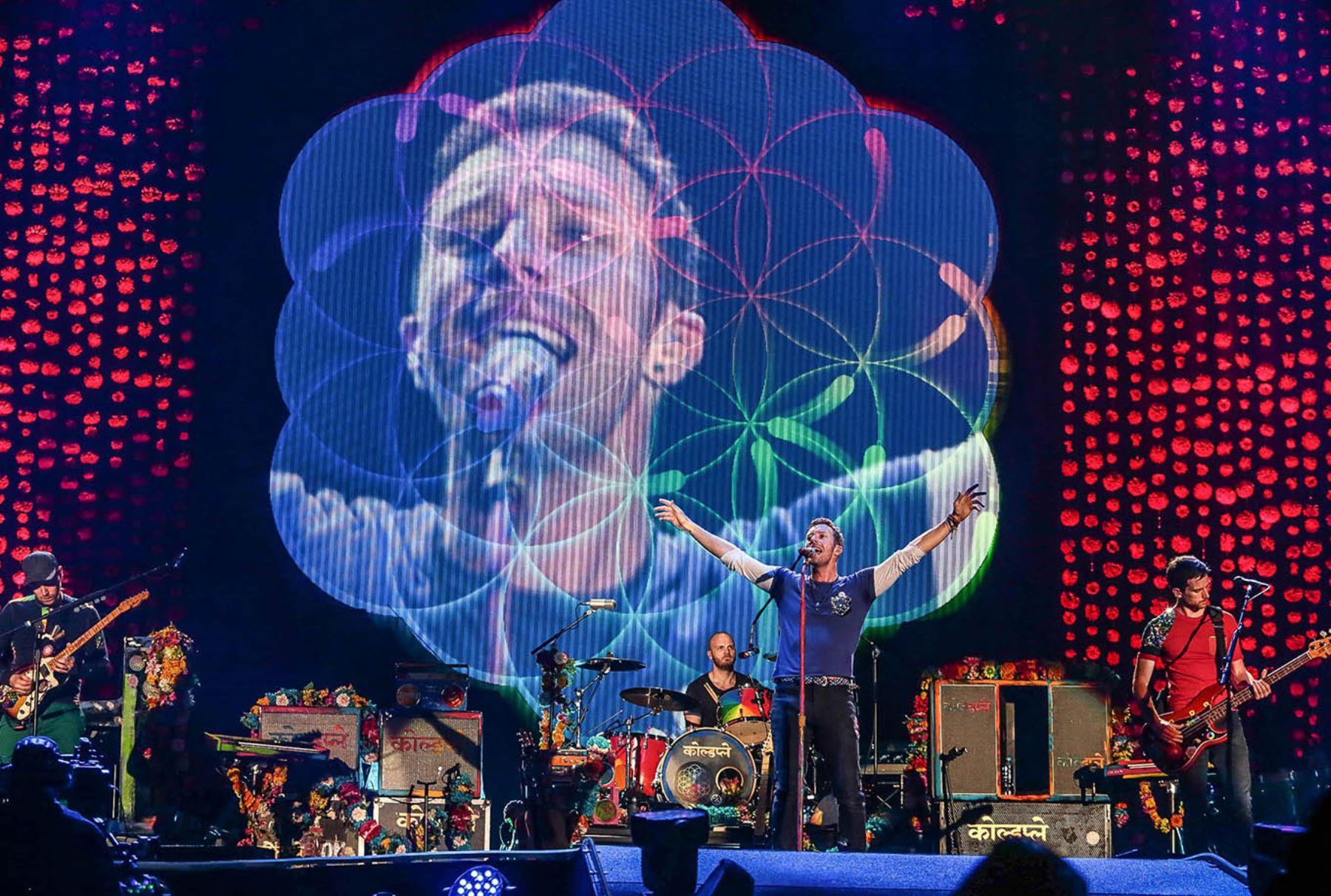 LIMA, PERÚ - ABRIL 05. Concierto de Coldplay en Lima. Foto: ANDINA/Carlos Lezama