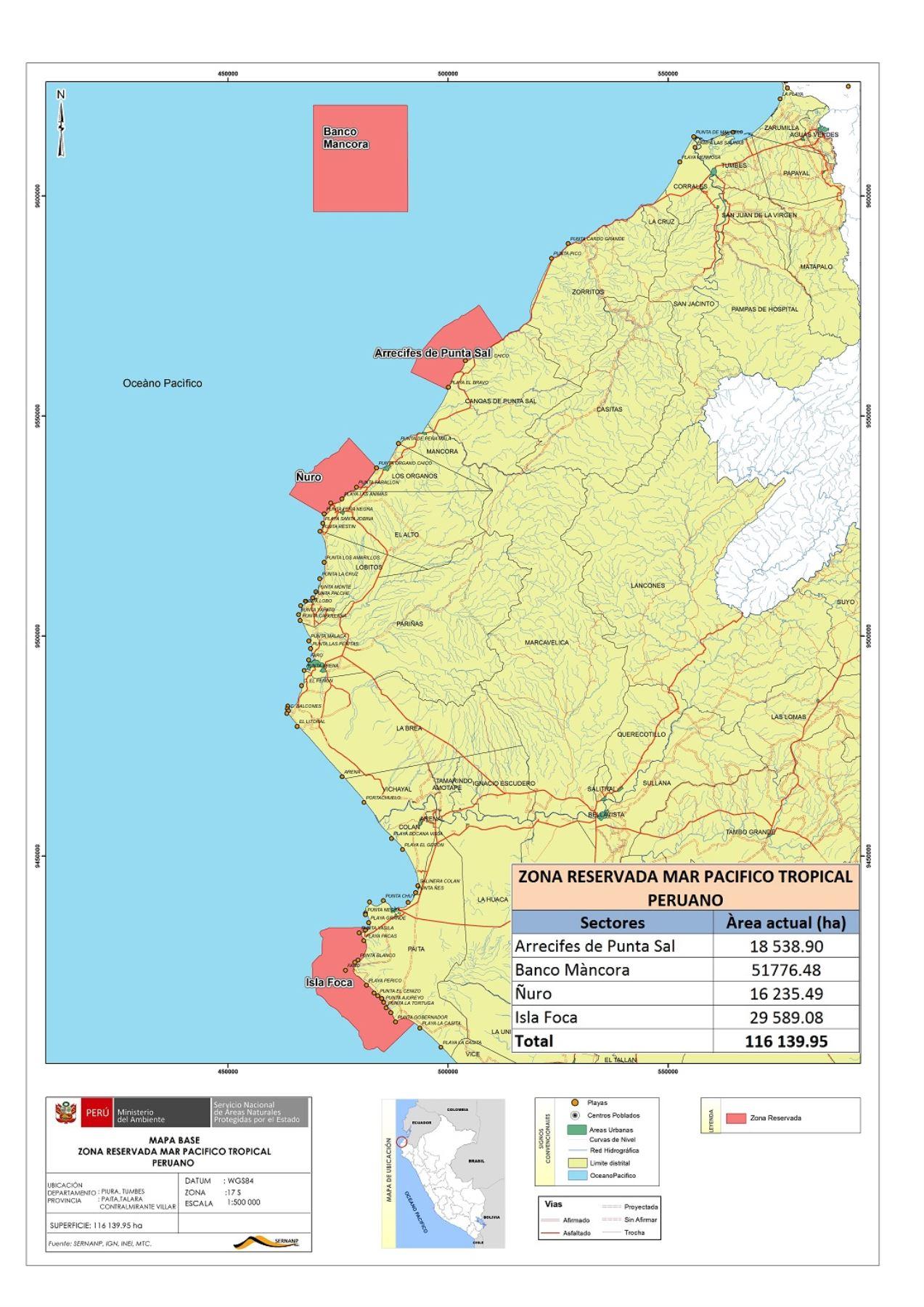 El establecimiento de la zona reservada Mar Pacífico Tropical permitirá conservar la rica biodiversidad y frenaría la pesca ilegal que amenaza a esa zona del litoral norte peruano.