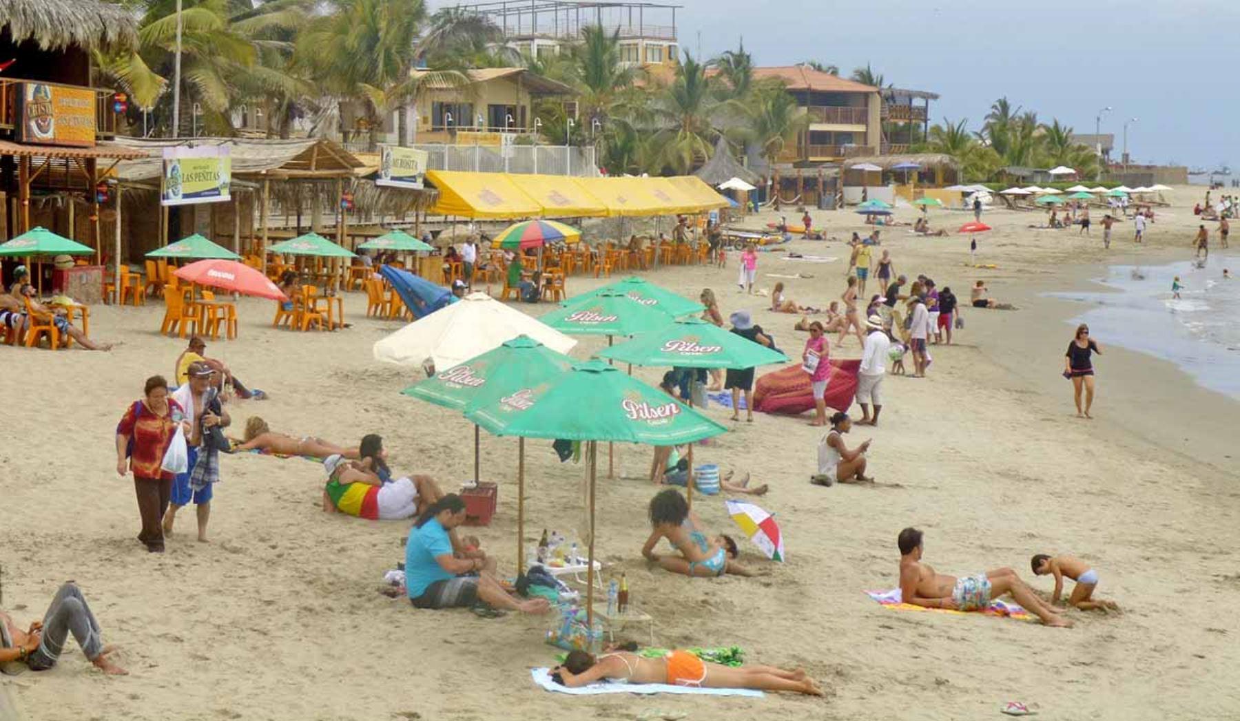 Las playas del norte del Perú serán los principales destinos de los turistas peruanos en el feriado largo por Fiestas Patrias. ANDINA