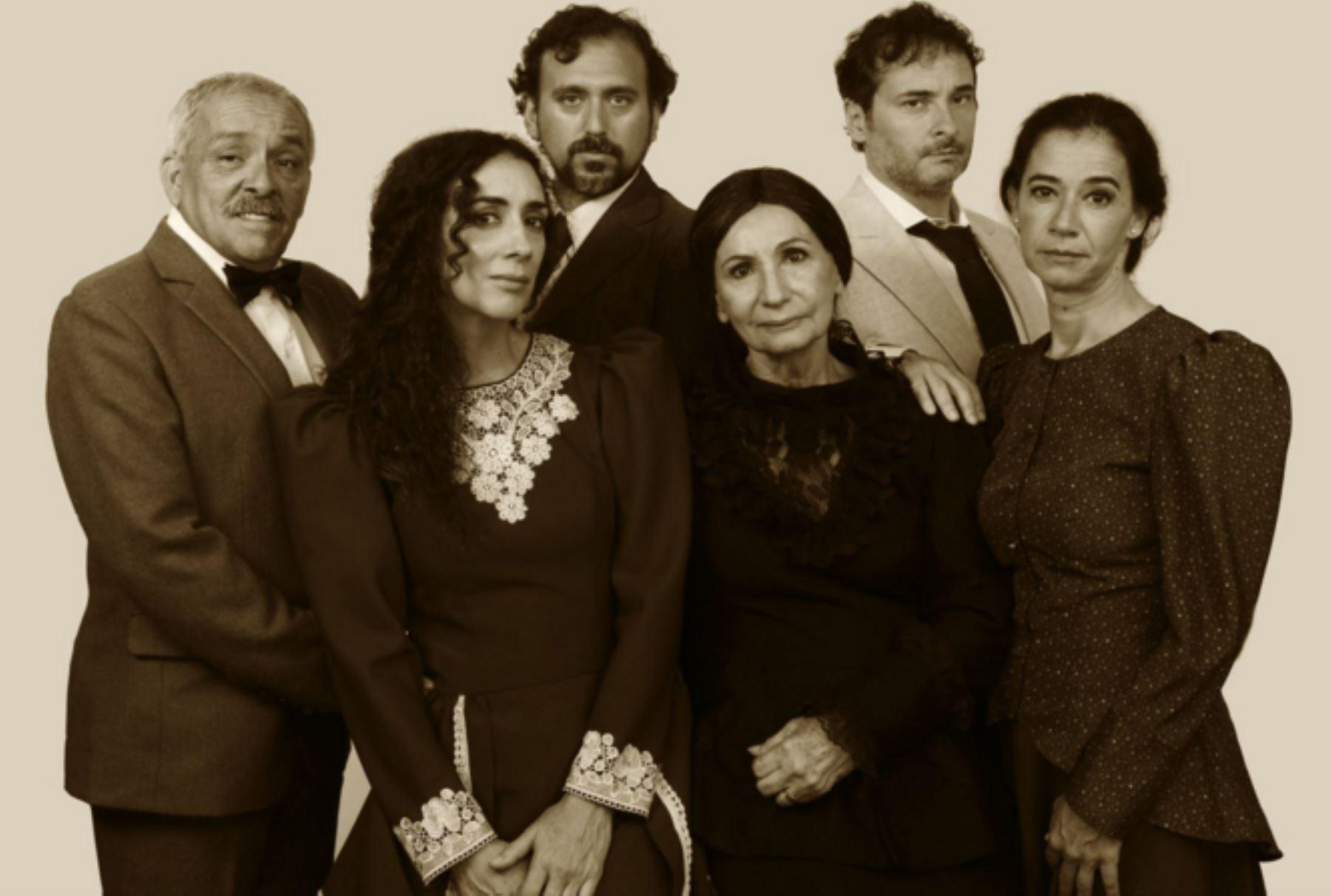 "Elenco de ""Teresa Raquín""."
