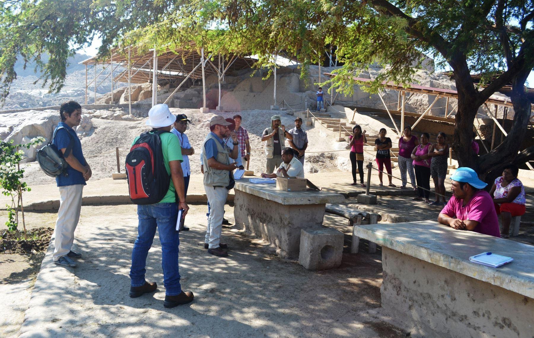 Investigadores de la Unidad Ejecutora Naylamp analizarán el material arqueológico descubierto en complejo Ventarrón, en Lambayeque. ANDINA
