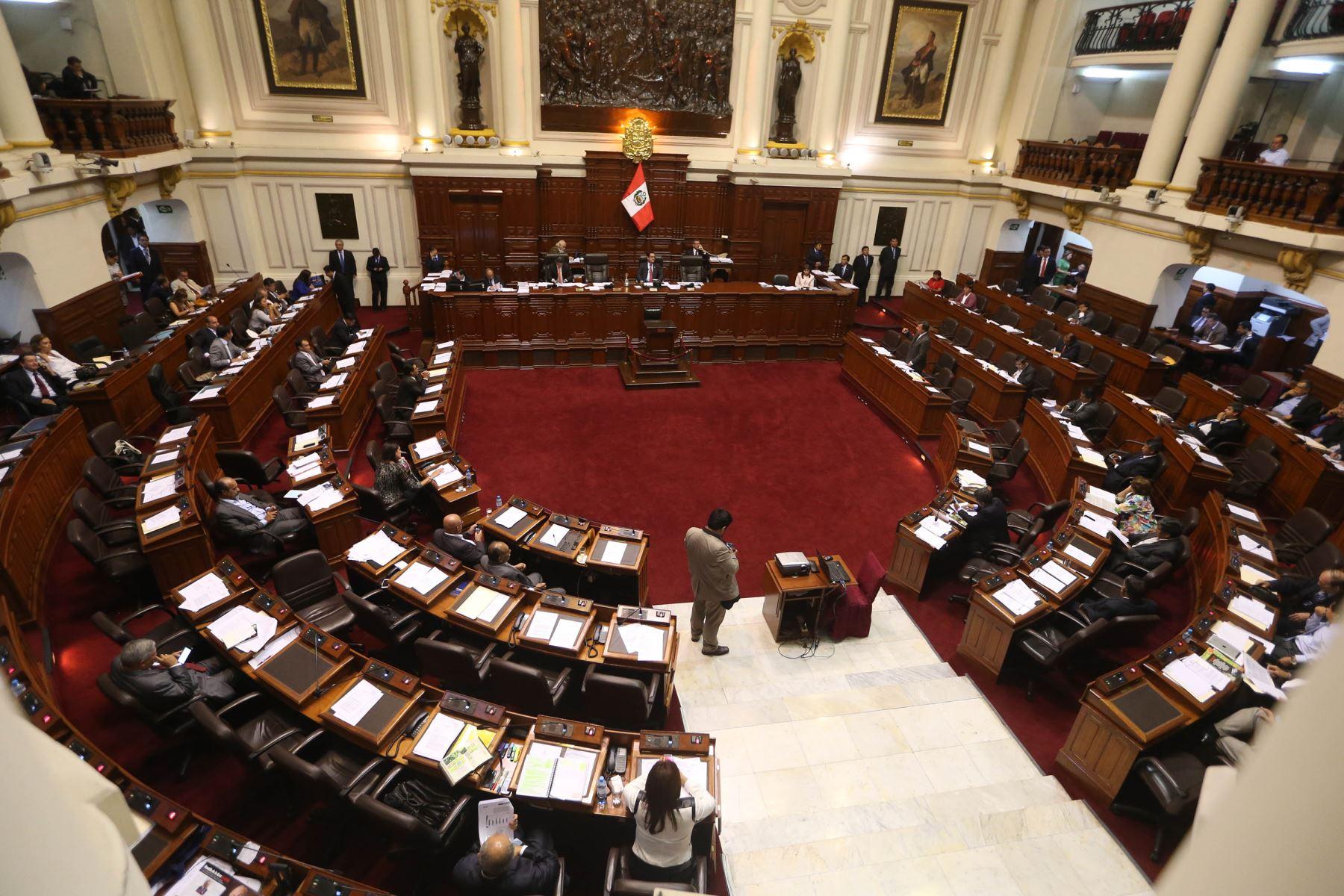 Pleno del Congreso. Foto: ANDINA/Vidal Tarqui