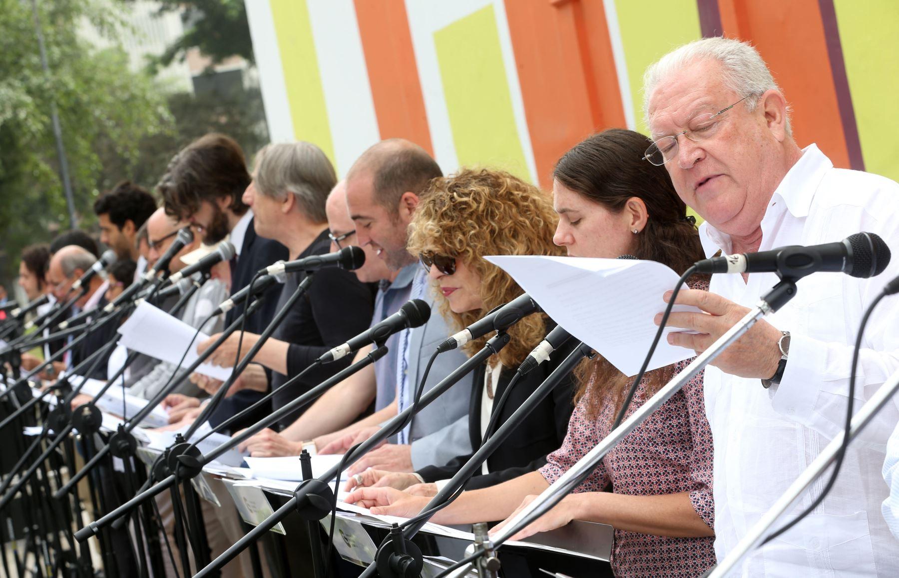 Artistas homenajean a Cervantes, Shakespeare y Garcilaso con lectura en Lima. Foto: INTERNET/Medios