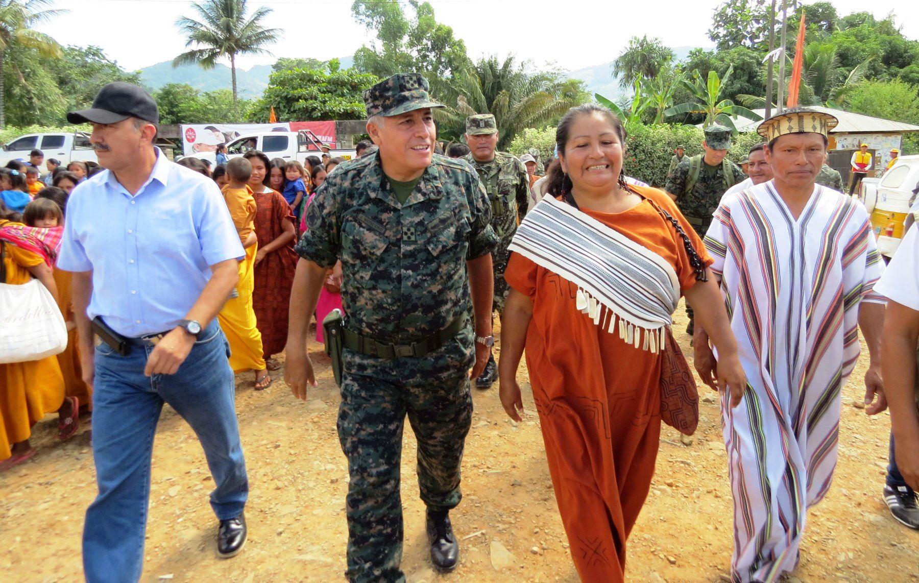 FF AA realizaron operación de ayuda humanitaria en comunidad indígena Teoría, ubicada en el Vraem. ANDINA