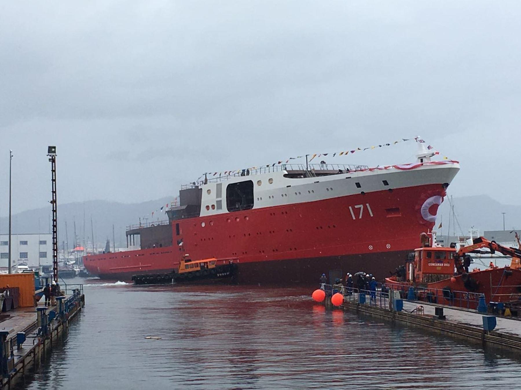 """Nuevo buque """"Carrasco"""" tomará posta al """"Humboldt"""" en la Antártida. Foto: Difusión."""