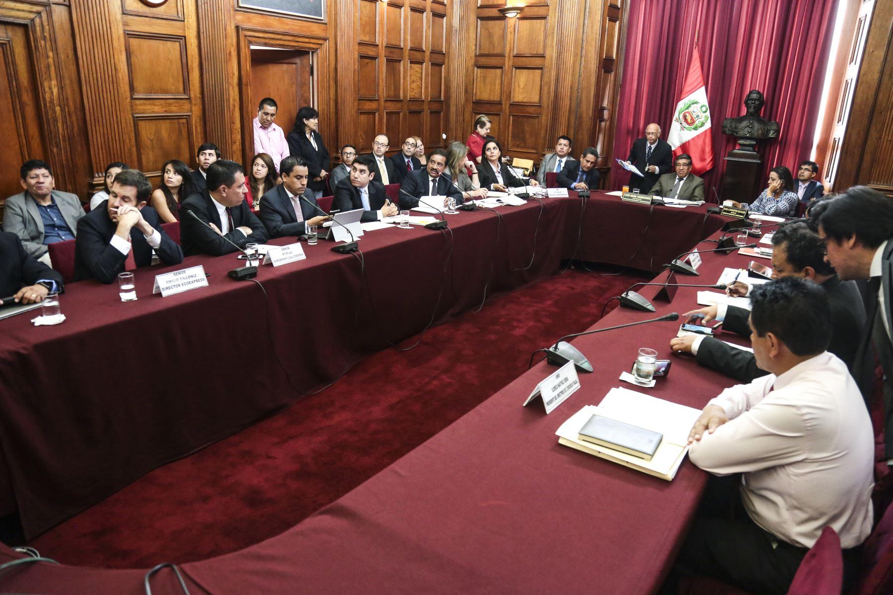 Comisión de Transportes y Comunicaciones del Congreso. Difusión