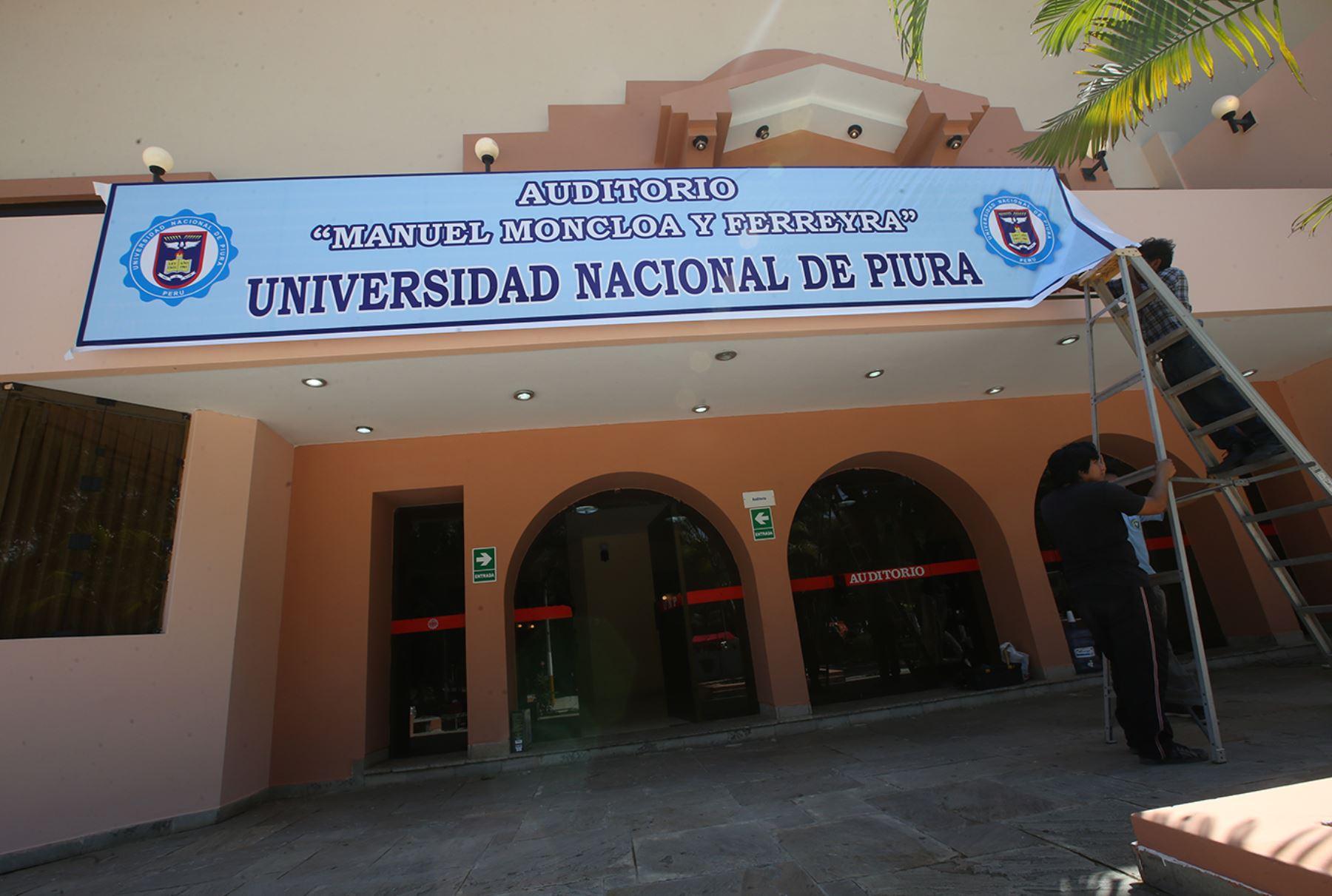 ANDINA/Juan Carlos Guzmán En este auditorio de la Universidad Nacional de Piura tendrá lugar esta noche el debate presidencial.