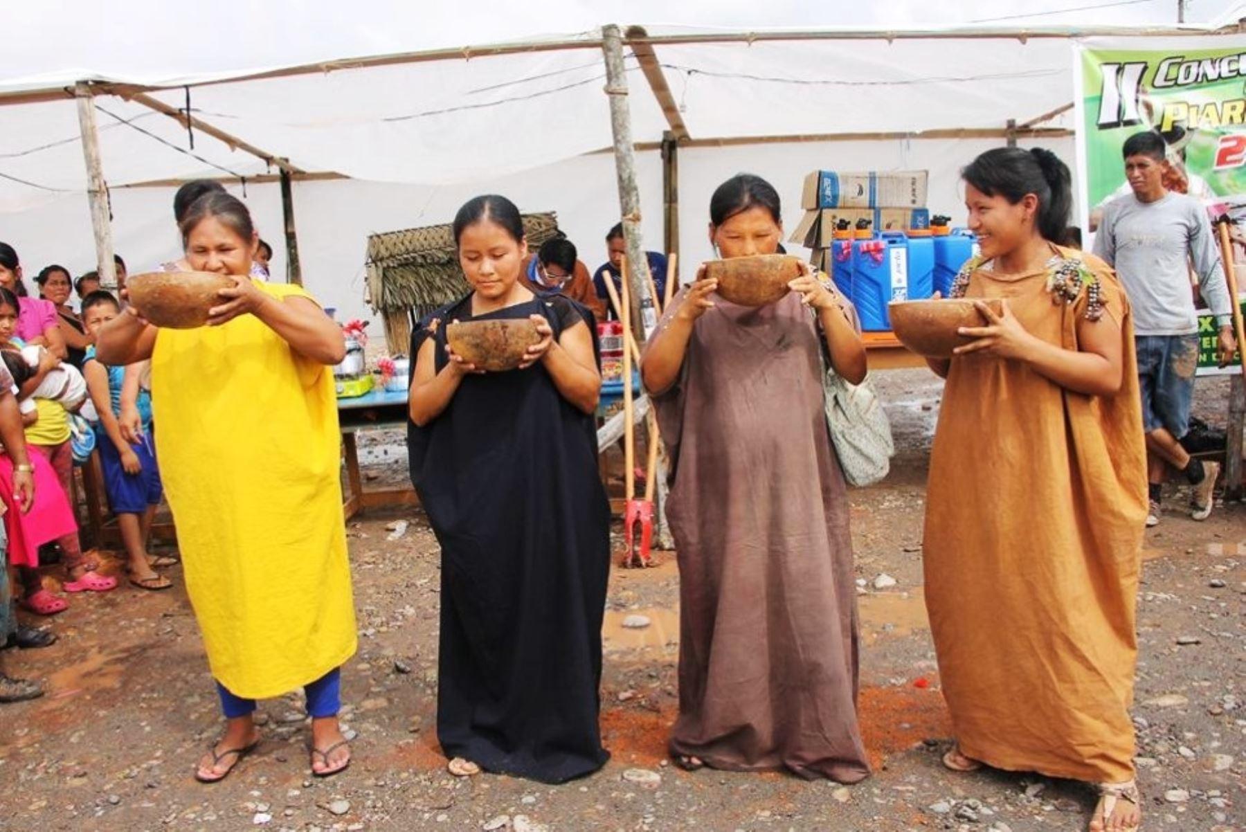 Pobladores indígenas distribuirán 10,000 vasos de masato en feria Expo Amazónica. ANDINA/Archivo