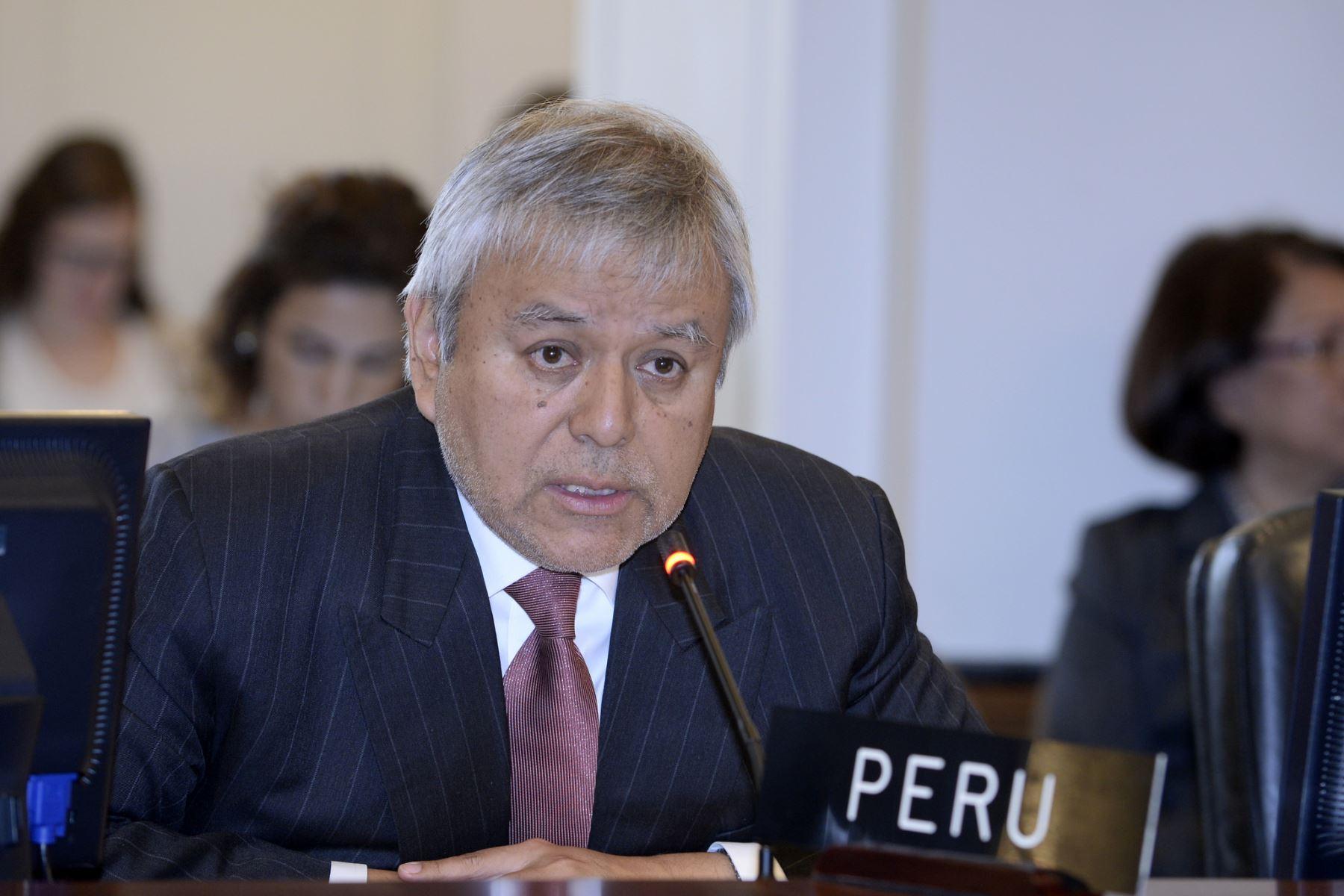 El Representante Permanente del Perú ante la OEA, Luis Chuquihuara. Difusión