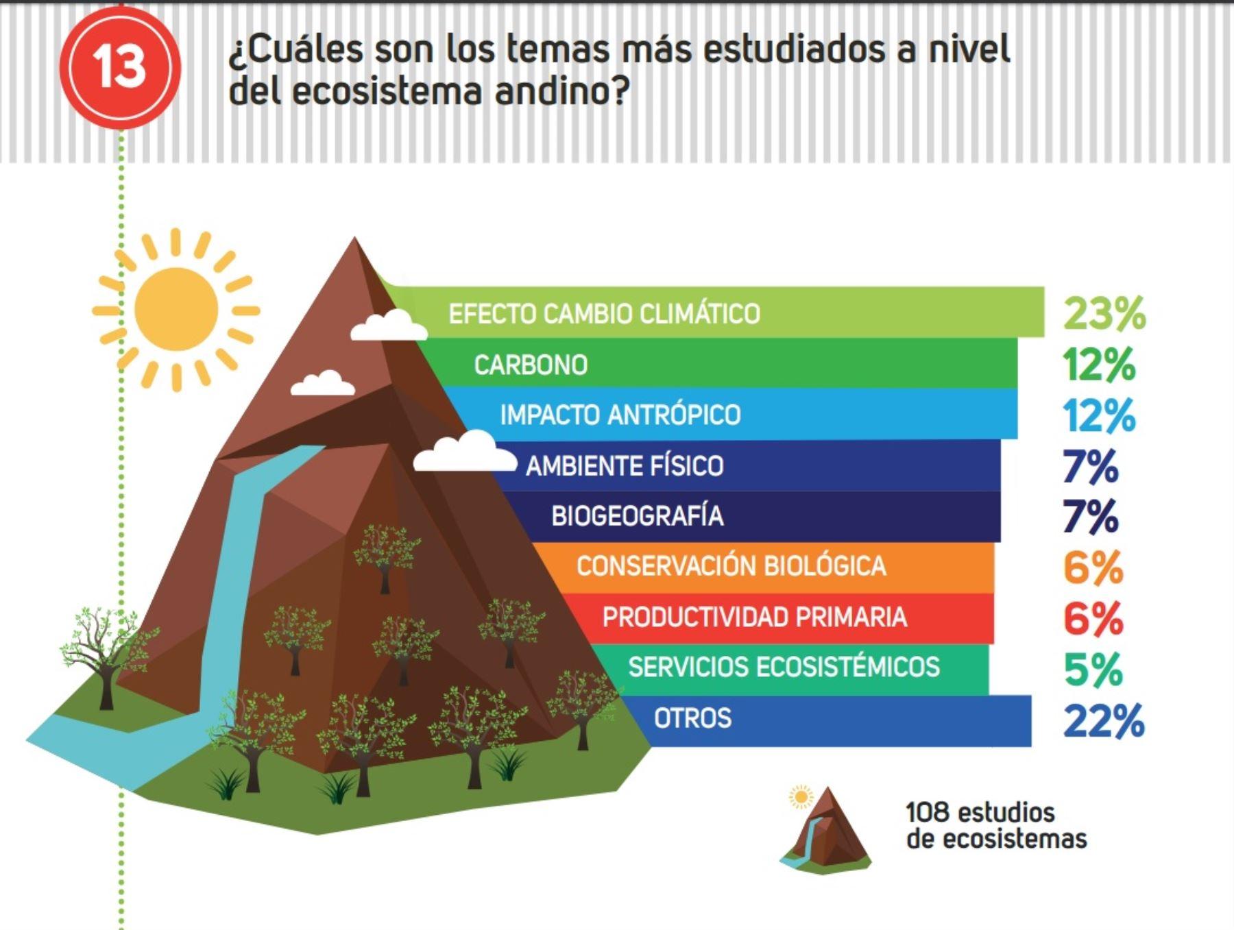 La investigación en bosques andinos se ha concentrado principalmente en estudios de sistemática y taxonomía por tratarse de temas transversales en cualquier tipo deinvestigación.