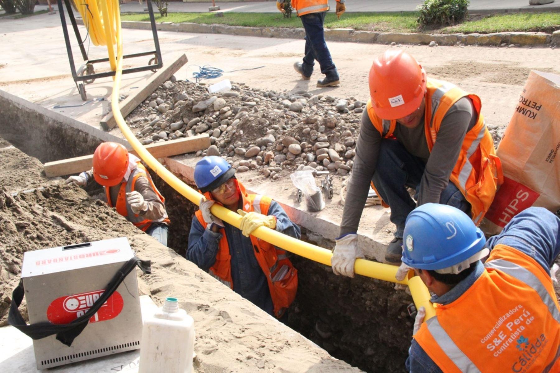 Instalación de redes de gas natural. Cortesía