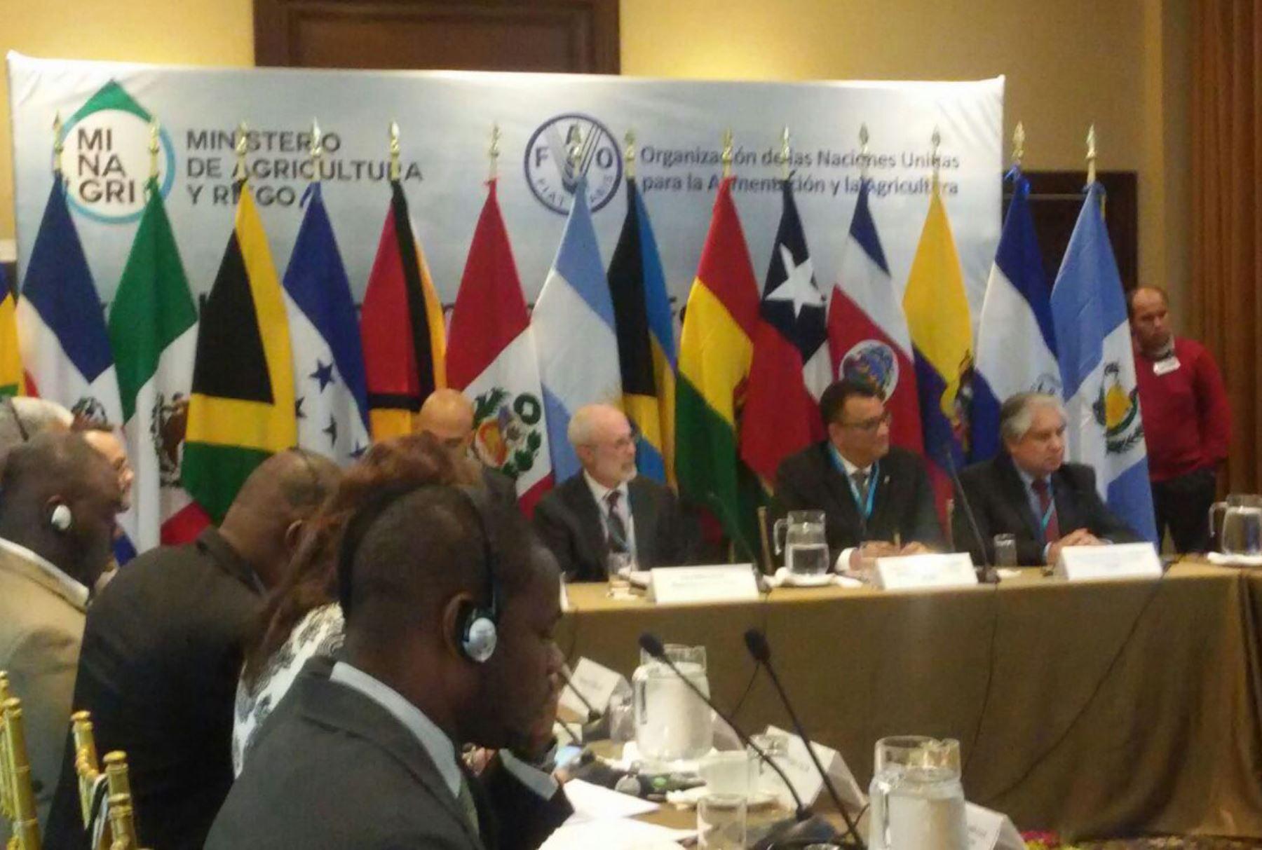 Ministro peruano Juan Benítes  inaugura la Reunión Internacional de Ministros y Altas Autoridades de Agricultura. ANDINA/Difusión