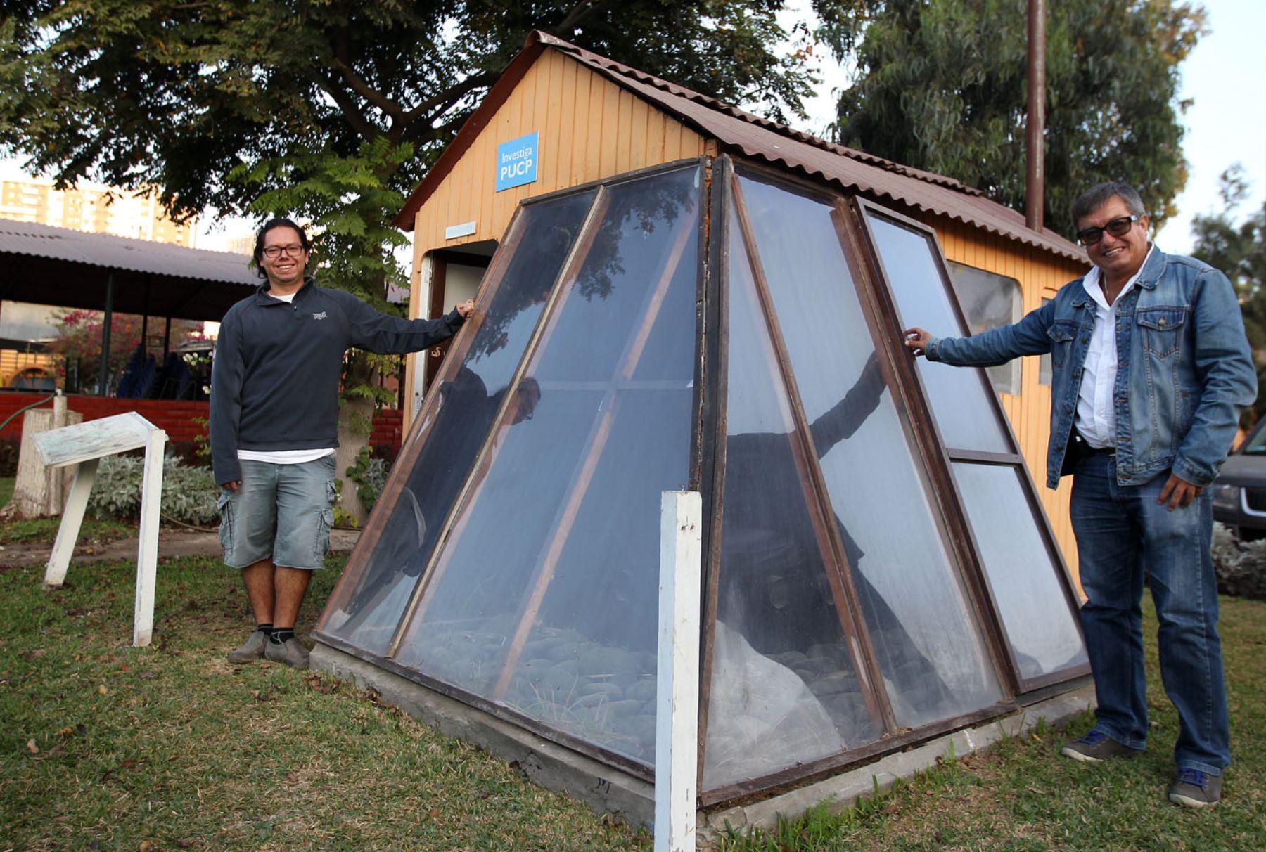 Investigadores de la PUCP crean prototipo de vivienda rural con muro trombe para que familias afectadas por las heladas. iANDINA/Héctor Vinces