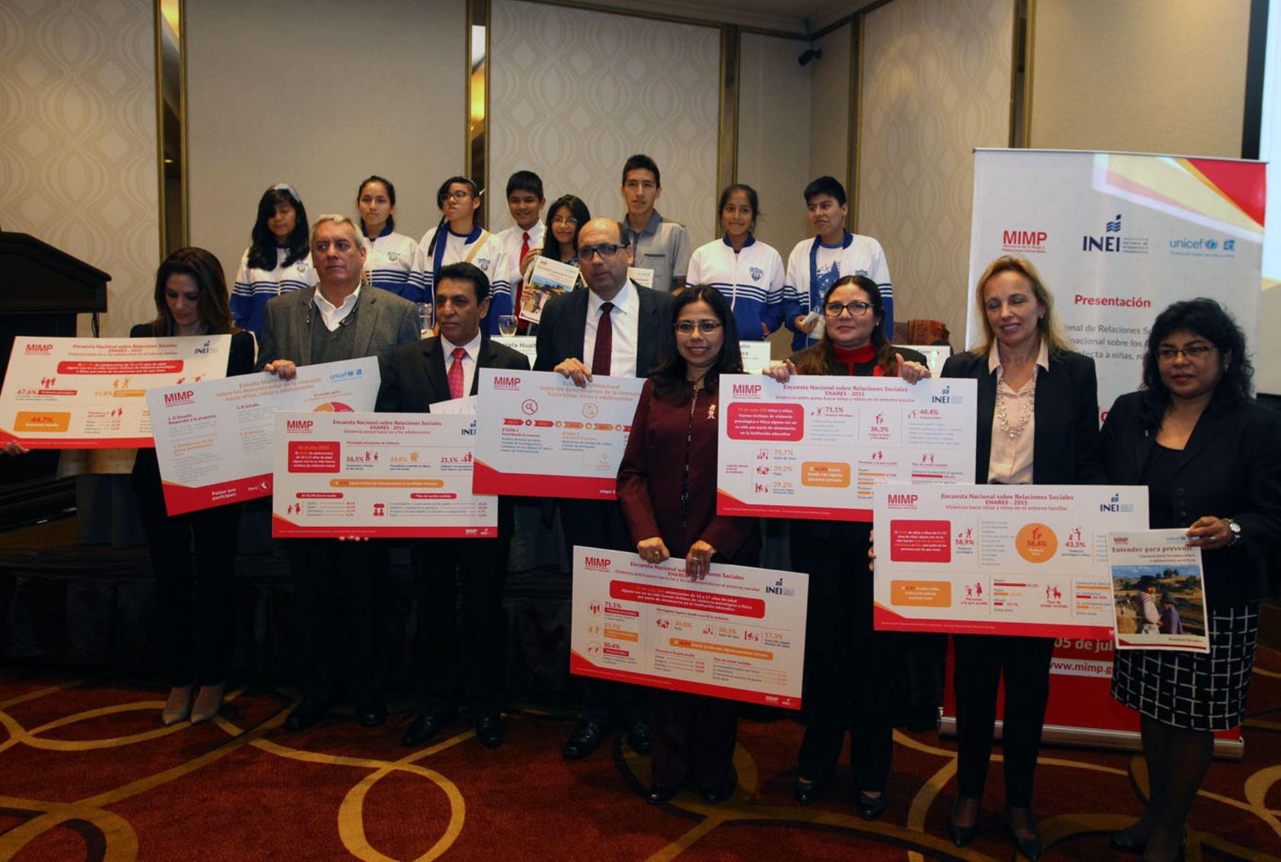 Presentación de estudio multinacional sobre violencia contra la niñez. Foto: ANDINA/Héctor Vinces