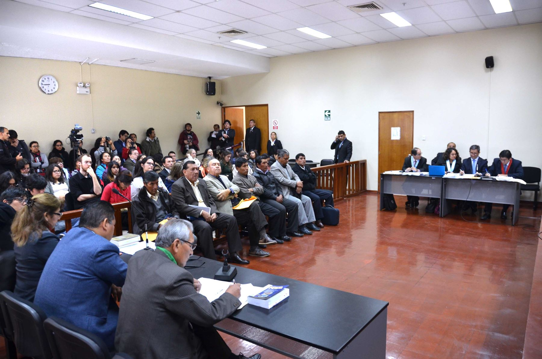 Audiencia de exmilitares realizada en la Sala Penal Nacional. Foto: Difusión.