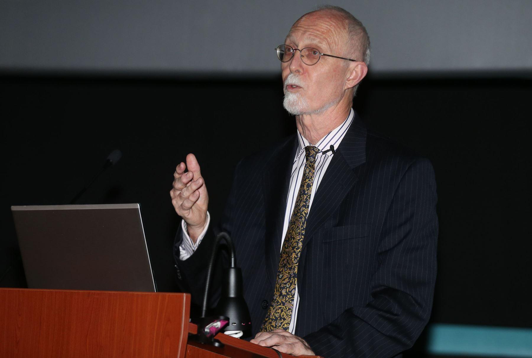Investigador Roland Fletcher. Foto: ANDINA/Vidal Tarqui.