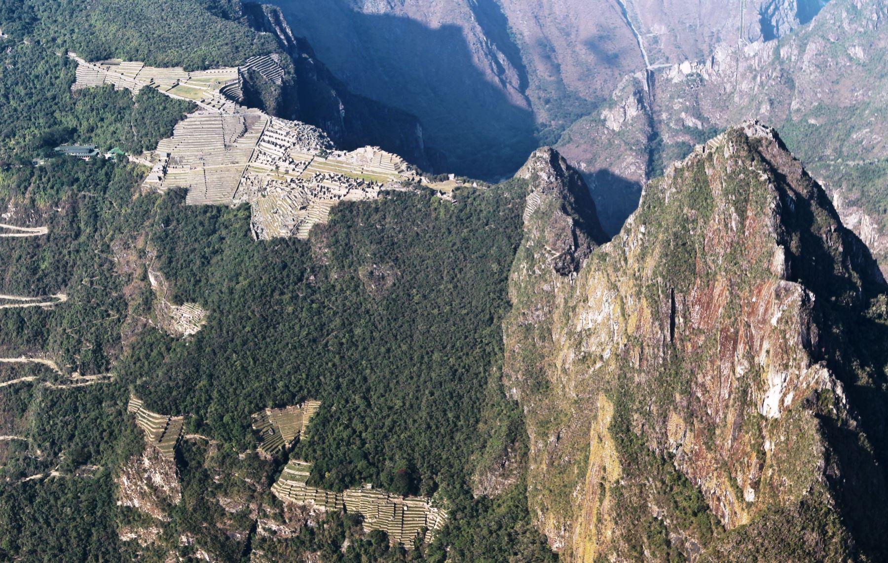 Vista aérea del parque arqueológico Machu Picchu. Foto: ANDINA/Archivo.