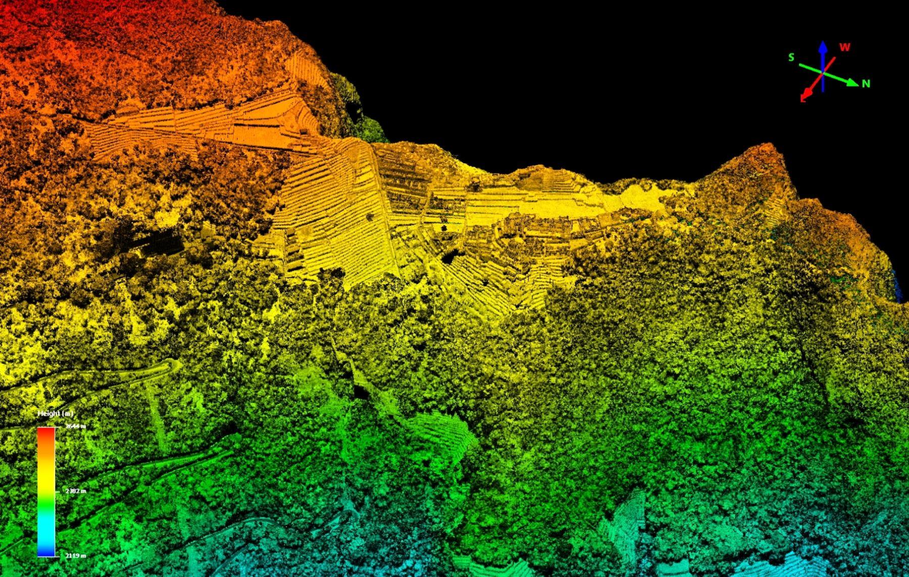 Con imágenes aéreas y tridimensionales hallan indicios arqueológicos en Machu Picchu.