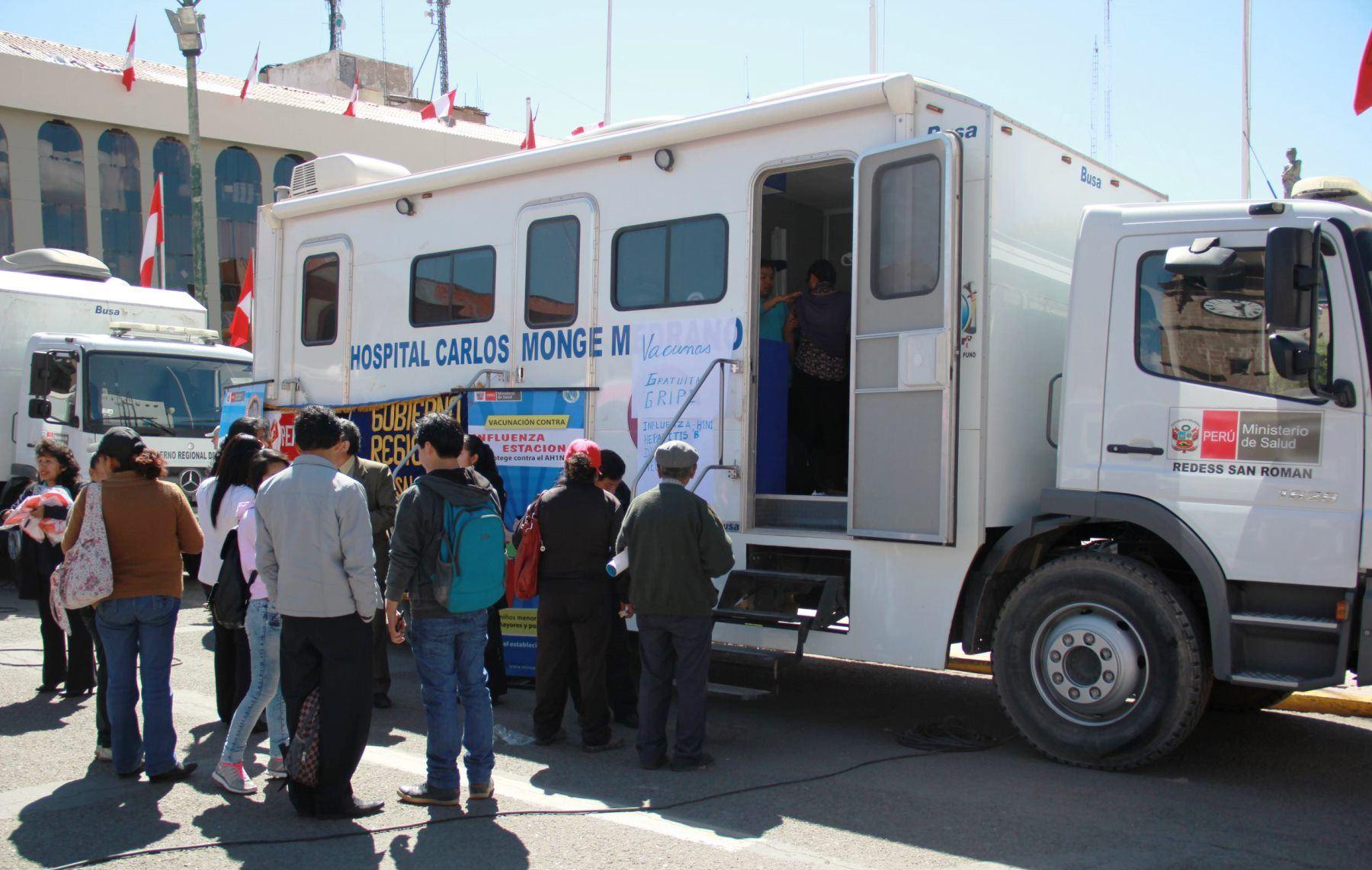 Más de 4,000 atenciones brindaron las clínicas móviles del Minsa en Puno ante las bajas temperaturas. ANDINA