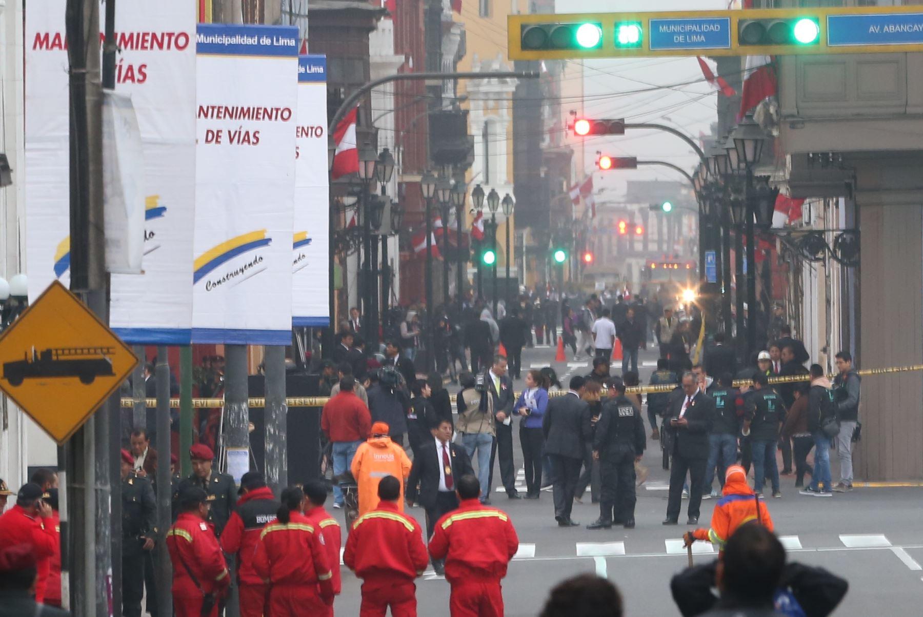 LIMA,PERÚ-JULIO 28. Previos a la transmisión de mando.Foto: ANDINA/Oscar Farje Gomero.