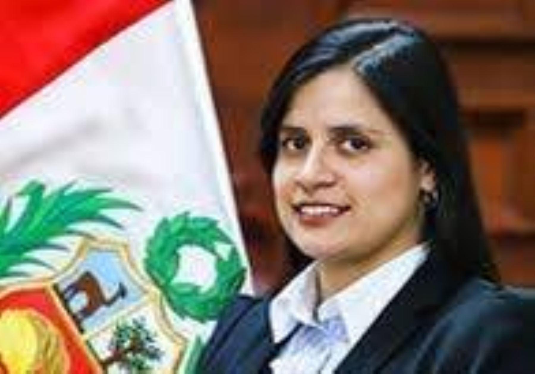 Viceministra de Recursos para la Defensa, Patricia Figueroa. Foto: Mindef.
