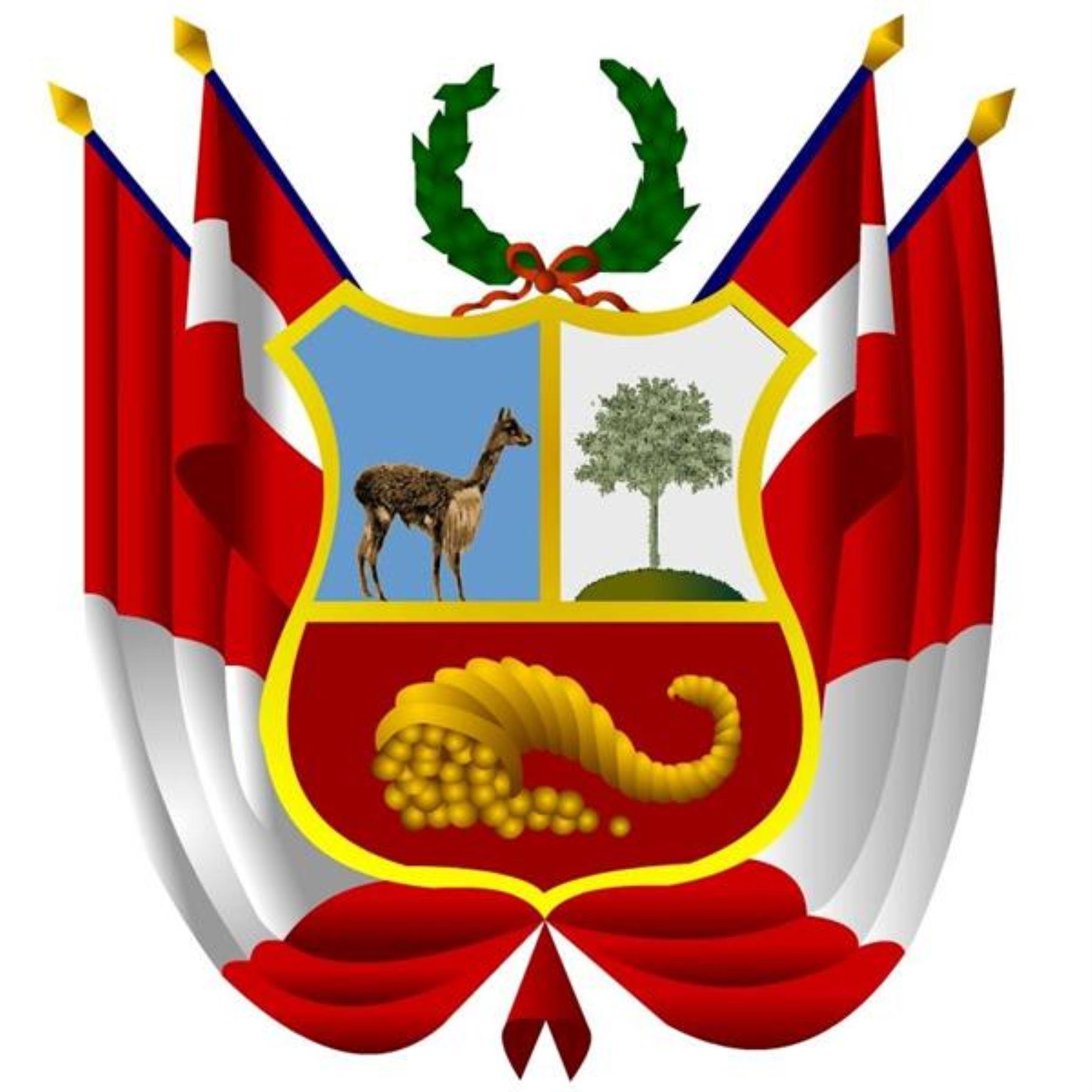 Escudo Nacional del Perú.