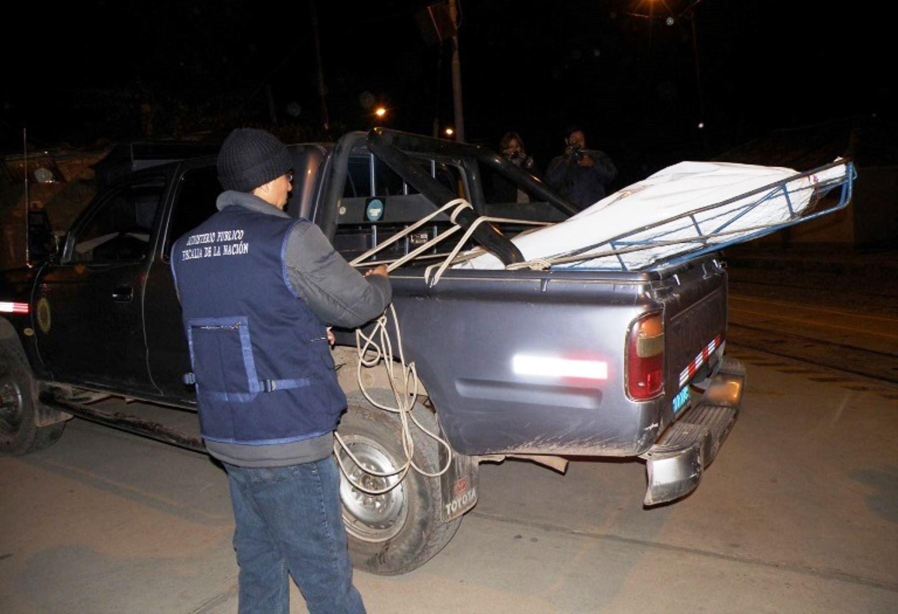 Restos del turista francés Auriol Alain Georges Henri fueron trasladados a la morgue de Canchis, en Cusco. ANDINA