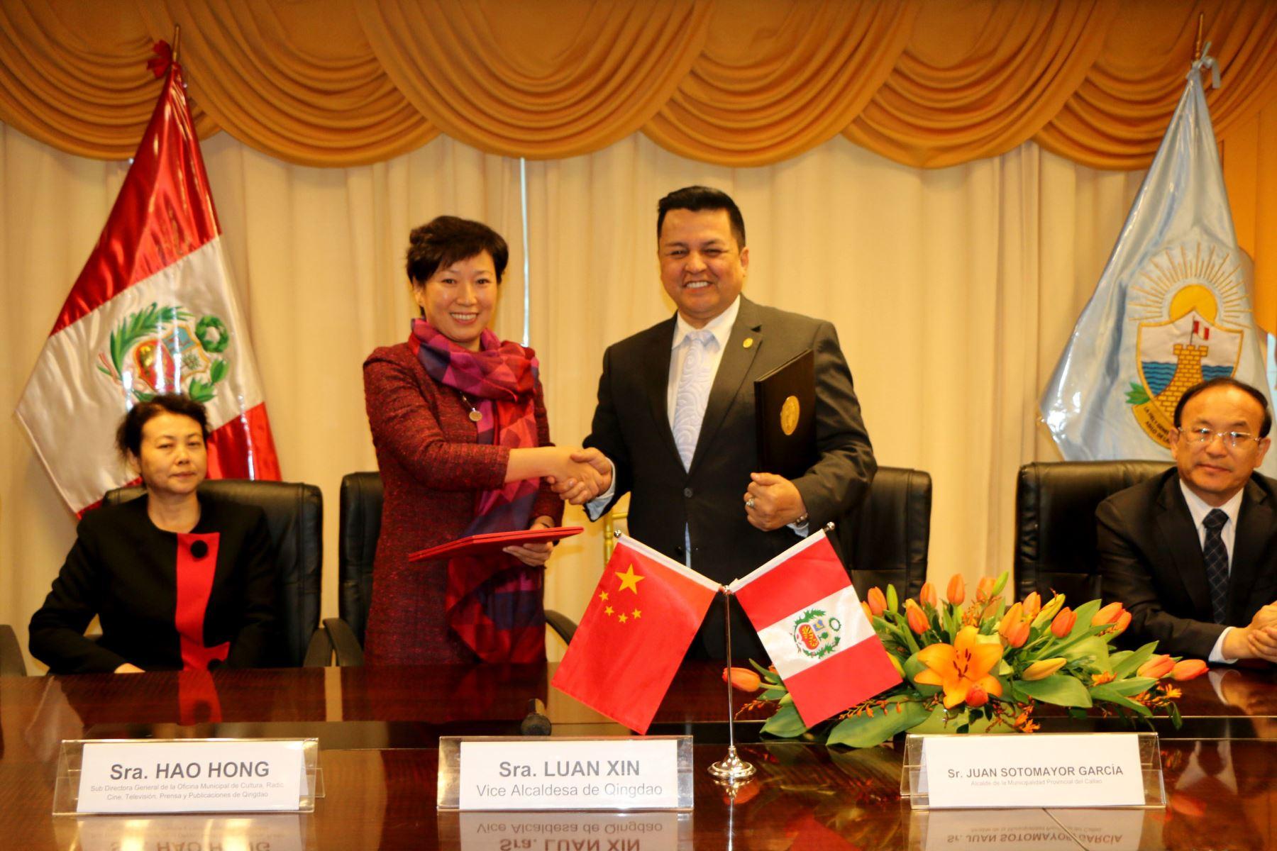 Callao y Qingdao firmaron acuerdo de hermanamiento. Foto: Andina/Difusión