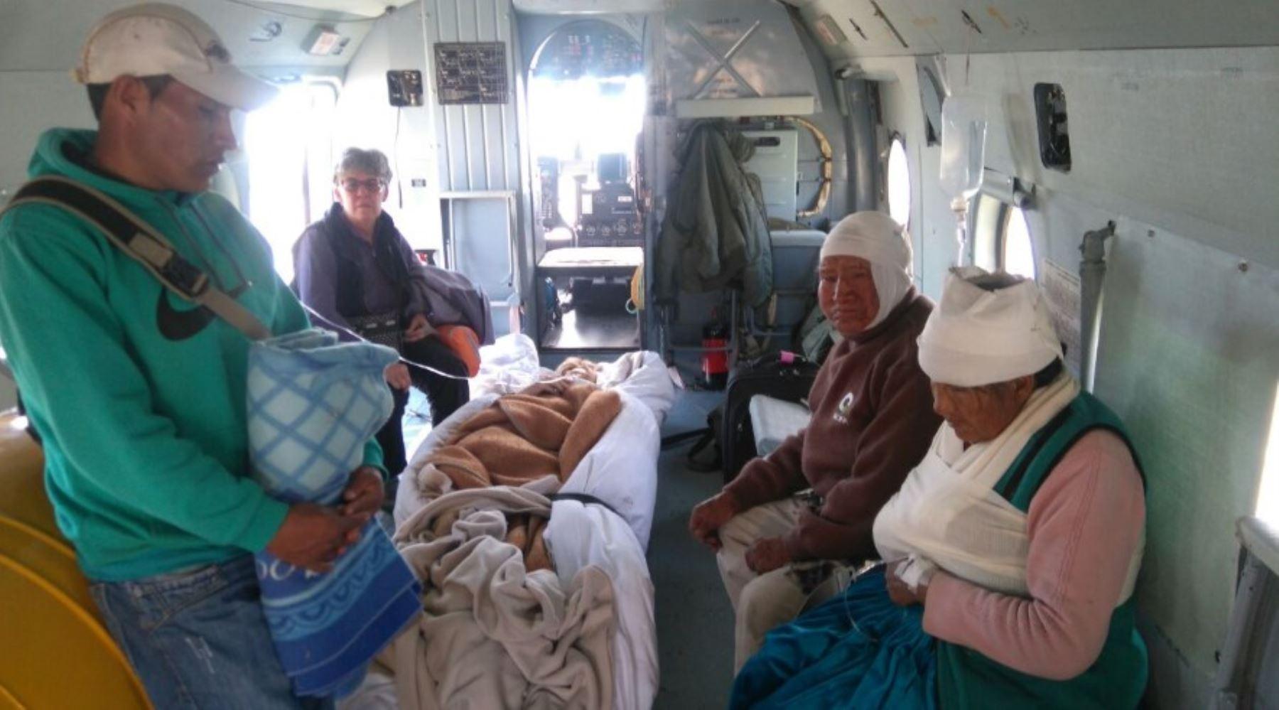 Evacuaron a ocho heridos de mayor gravedad por el fuerte sismo en la provincia de Caylloma, en la región Arequipa. ANDINA/Difusión