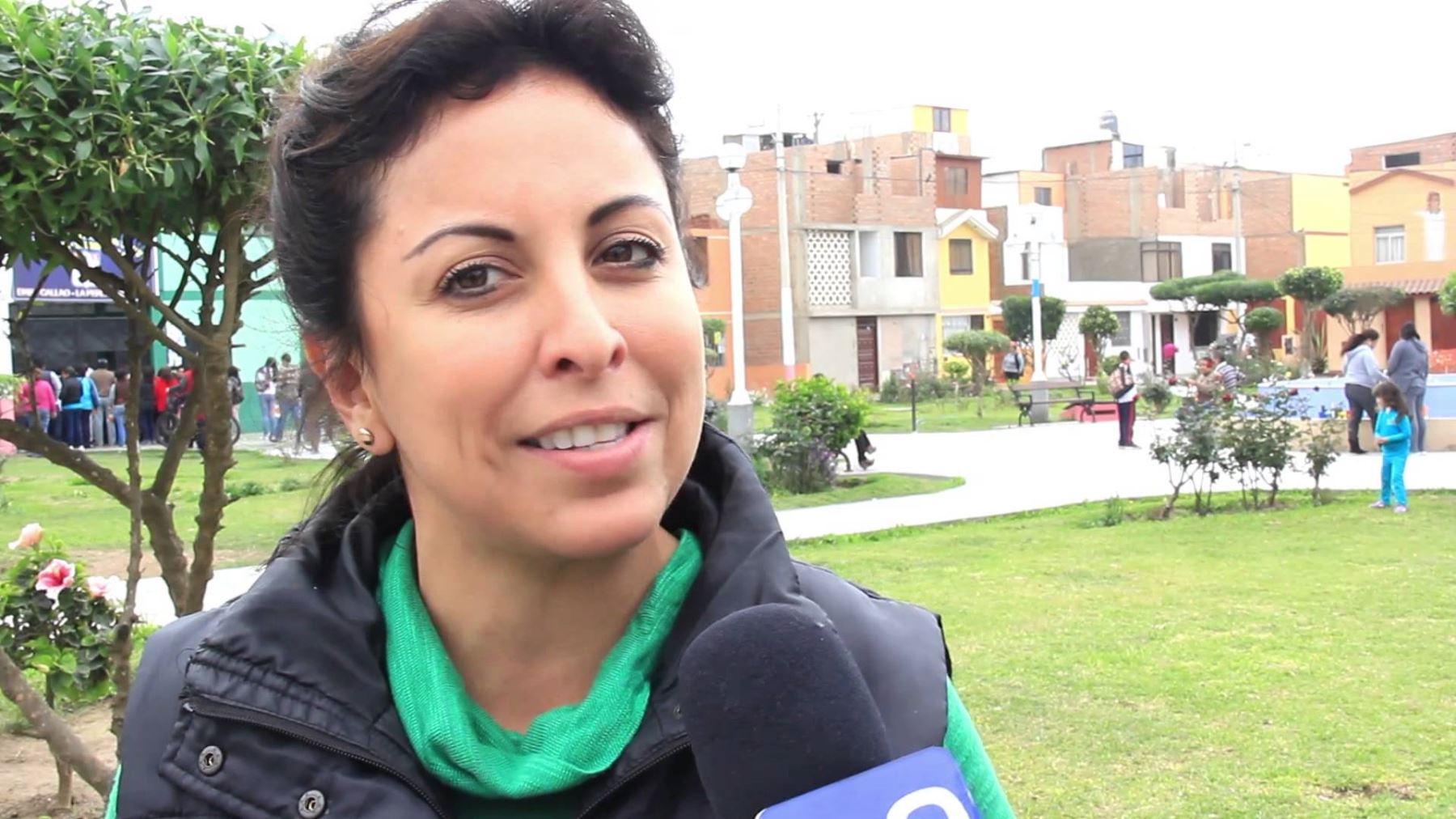 la alcaldesa de La Perla, Patricia Chirinos, saludó la prórroga del estado de emergencia en el Callao.