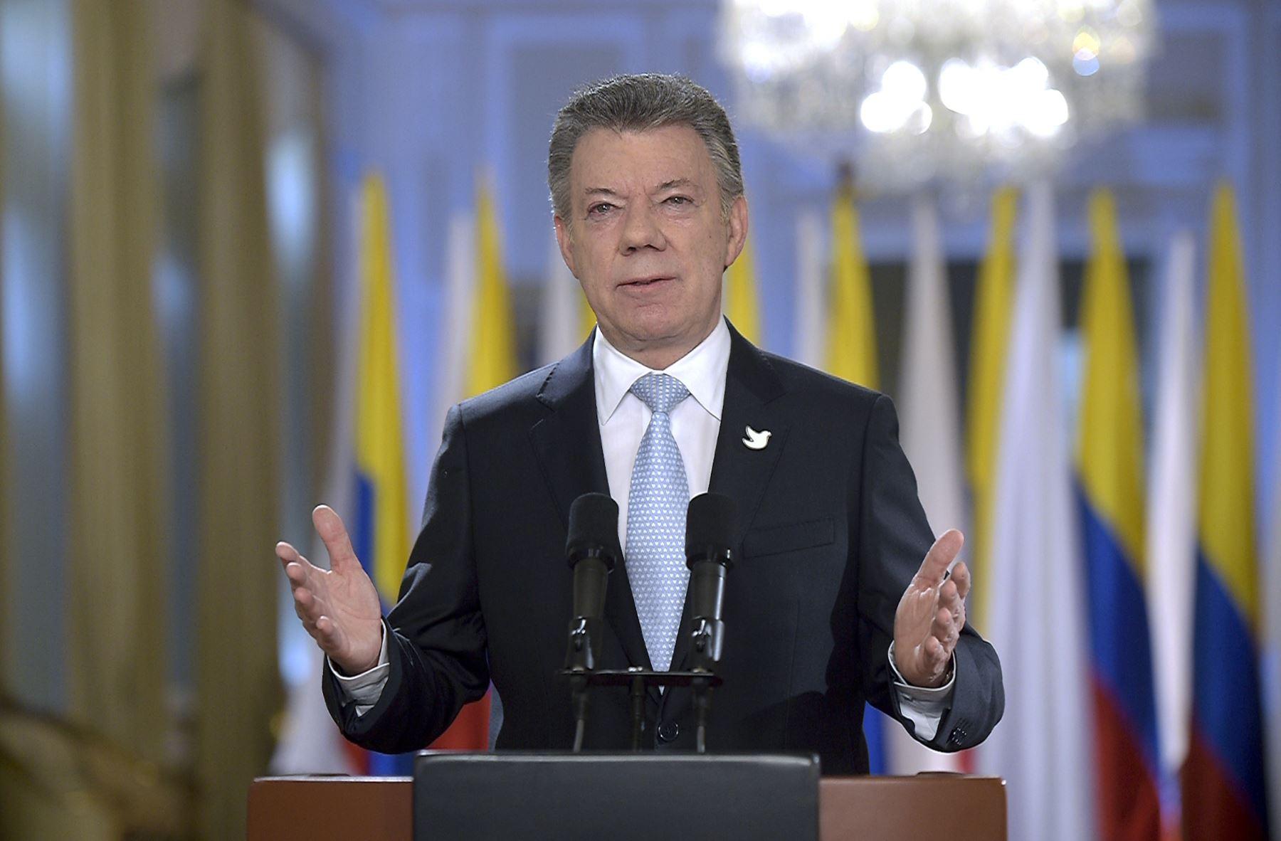 Presidente de Colombia, Juan Manuel Santos. Difusión