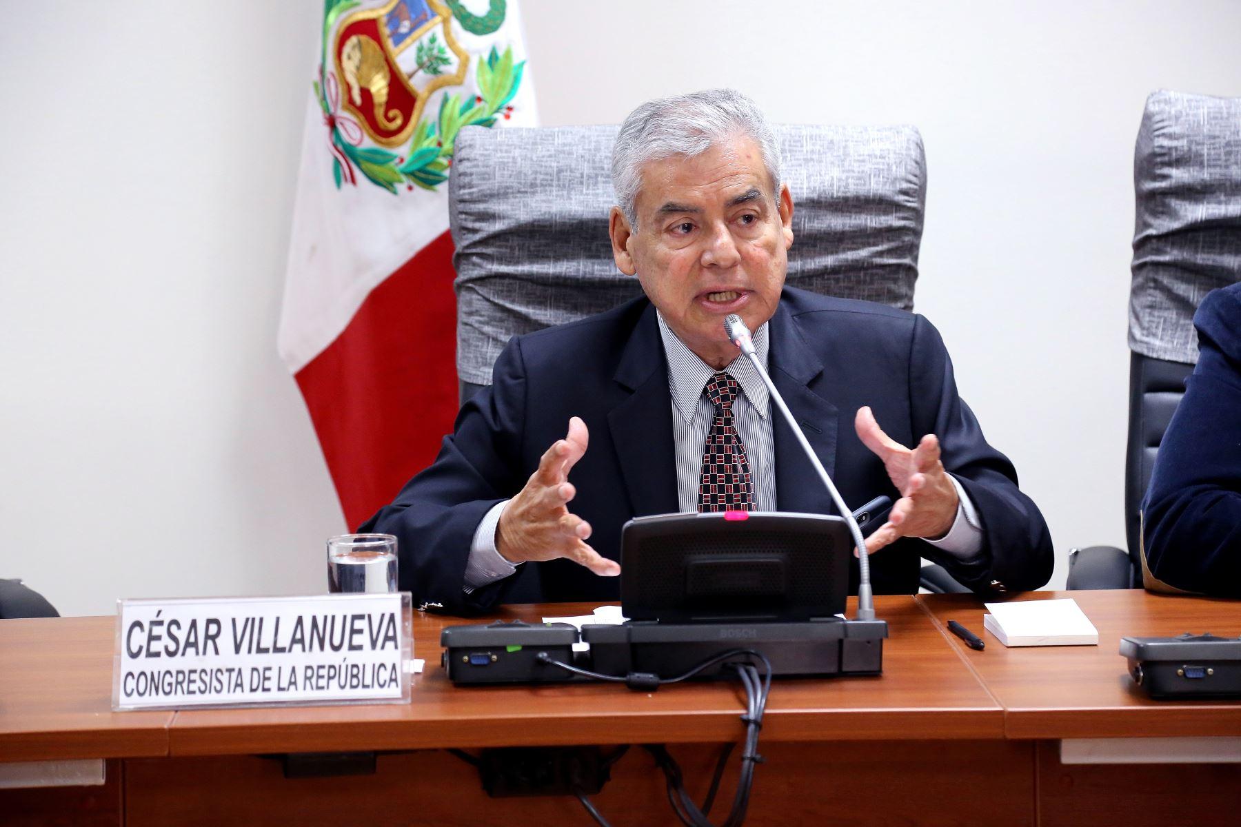 Legislador César Villanueva. Difusión