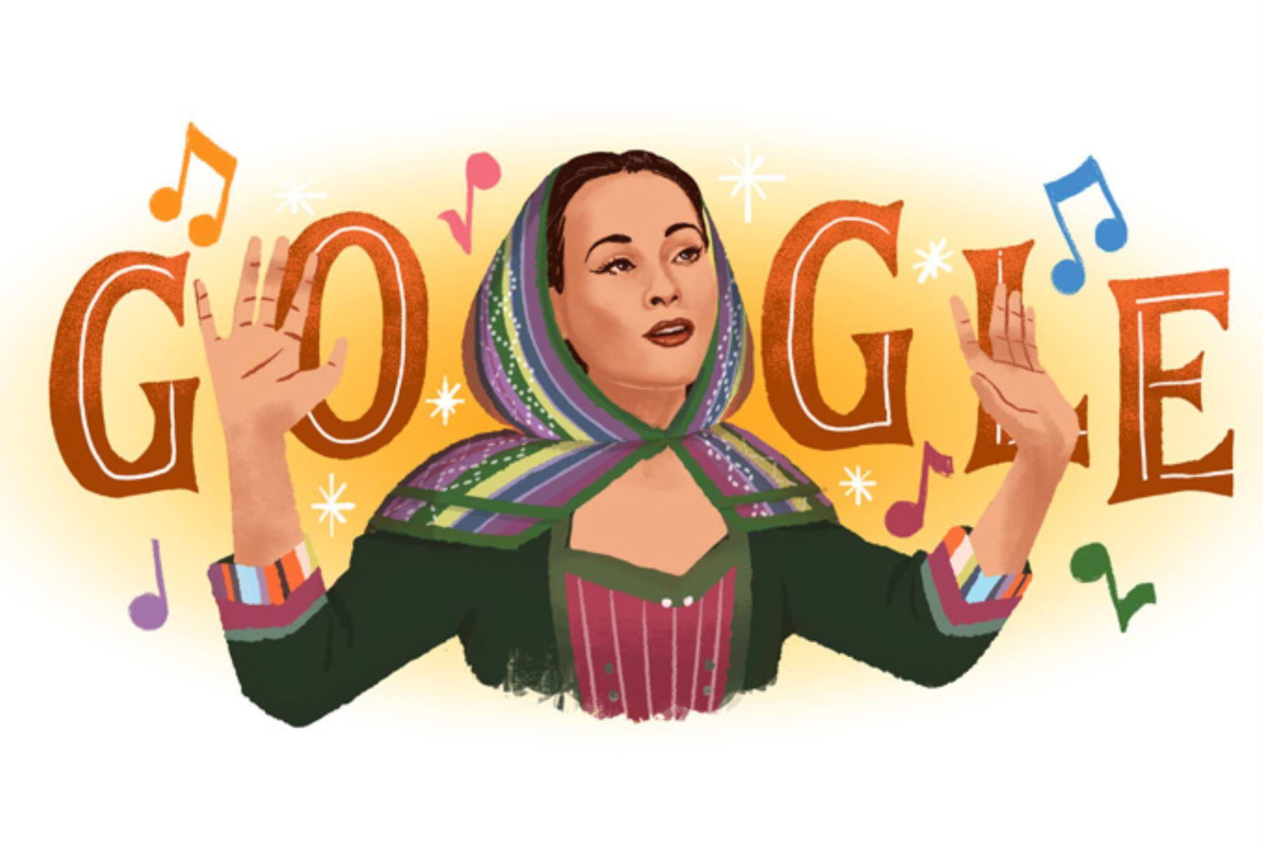 Yma Súmac es recordada en Google.