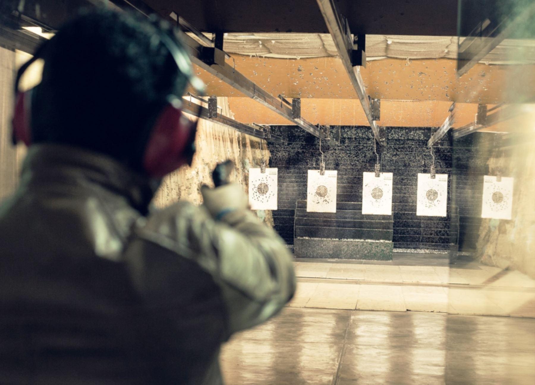 Optimizan examen de tiro para obtener licencia de uso de armas de fuego. Foto: ANDINA/Difusión.