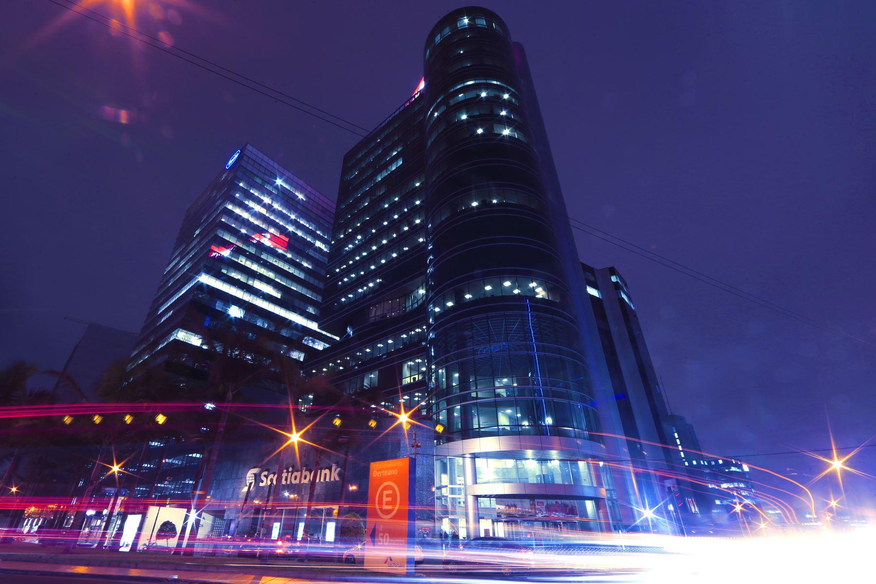 Vista del centro financiero de Lima.Foto:  ANDINA/archivo.