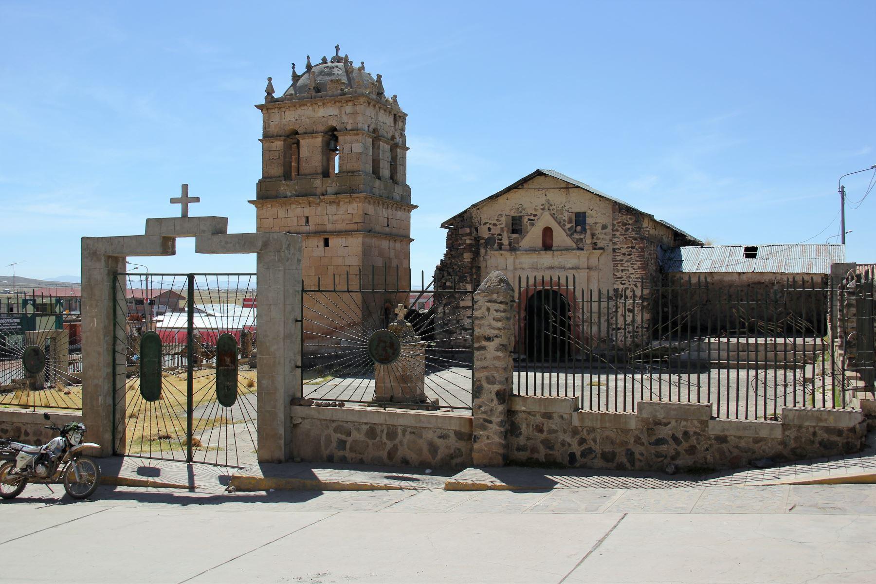 Asignarán S/ 5 mllns para restaurar el templo San Andrés de Atuncolla, en Puno. ANDINA