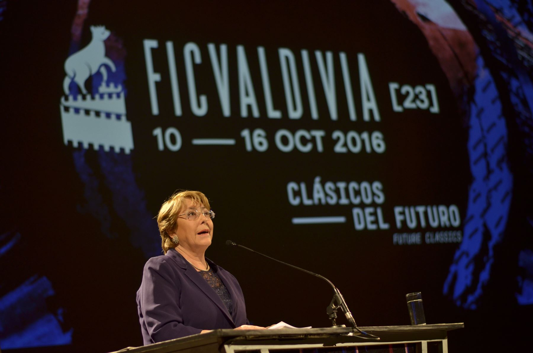 Michelle Bachelet en inauguración del festival de Cine de Valdivia / Foto: Rodrigo Portales