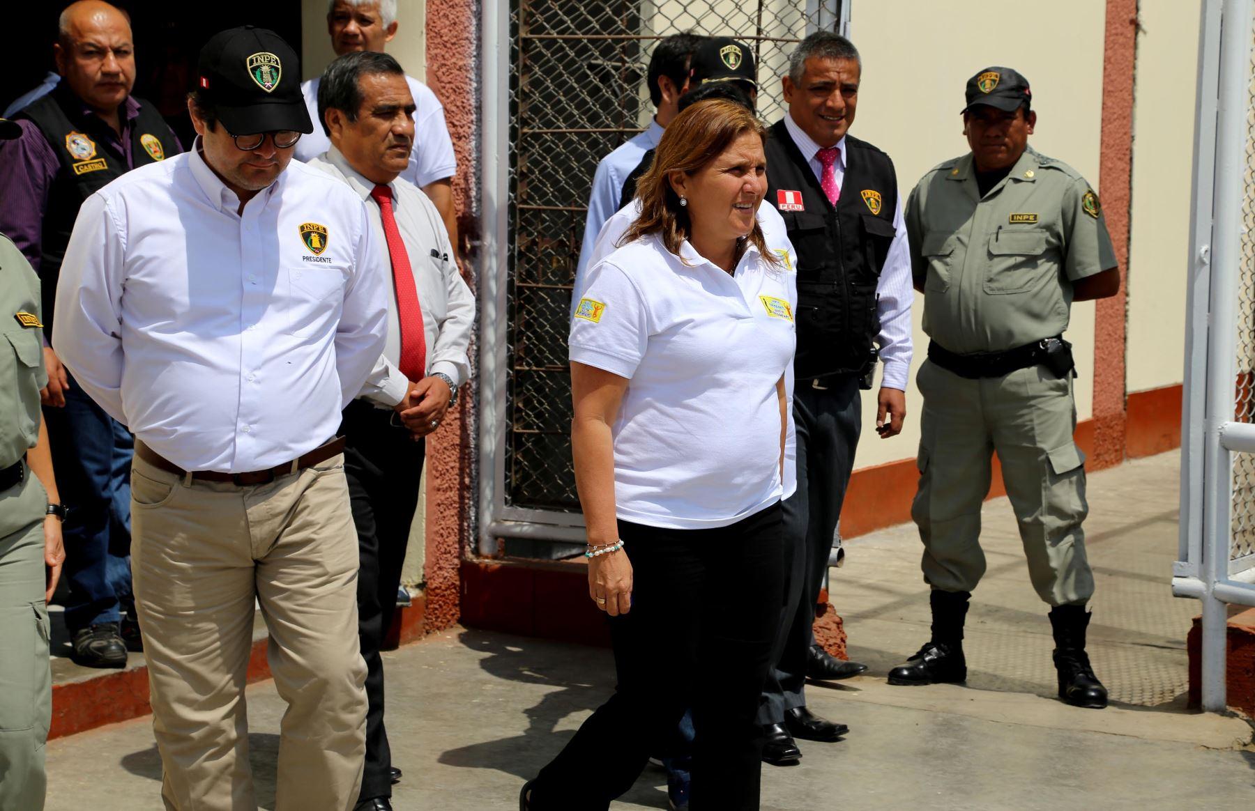 Ministra de Justicia Marisol Pérez Tello visita penal de Trujillo Foto: Minjus