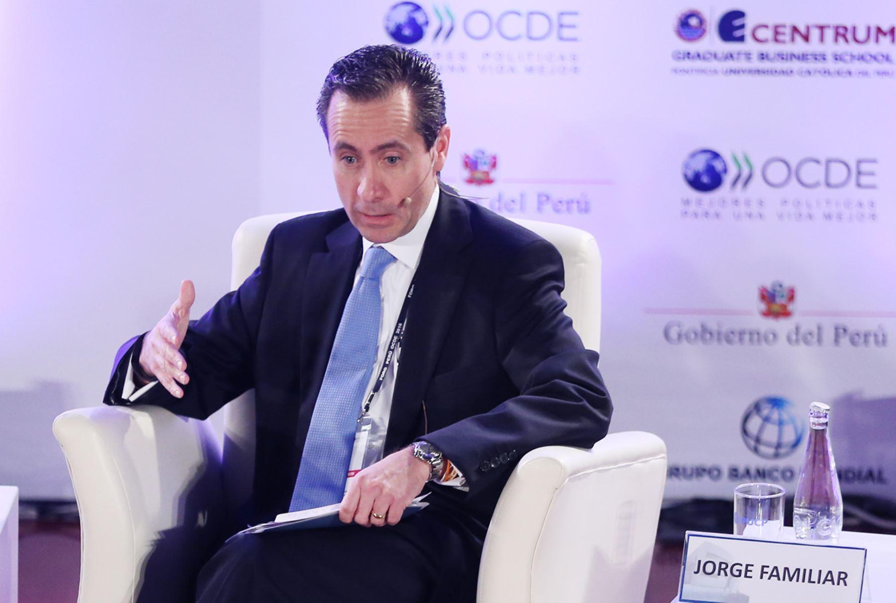 Jorge Familiar, Vice presidente del Banco Mundial para America Latina. Foto: ANDINA/Melina Mejía