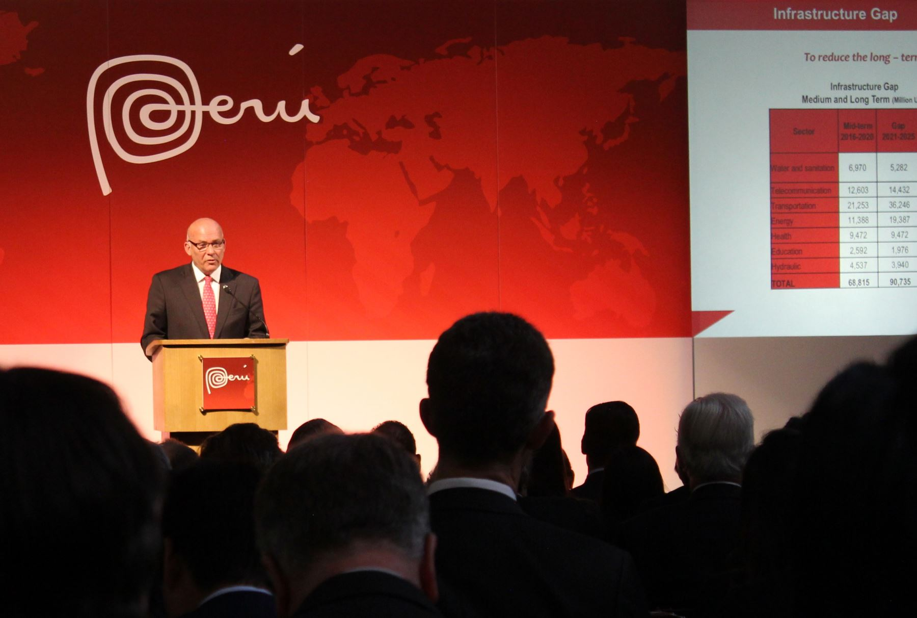 Ministro Eduardo Ferreyros  participa en el Road Show de Inversiones Europa 2016 organizado por inPerú , que incluye Londres y Madrid.